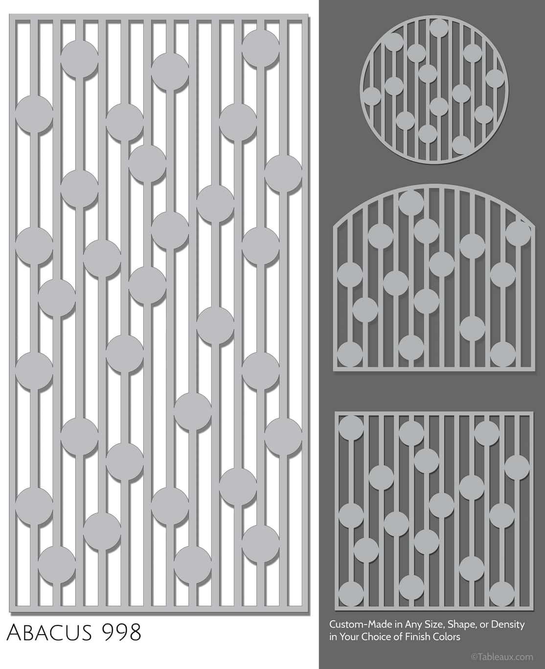 """Tableaux Decorative Grilles Design Pattern """"Abacus"""""""