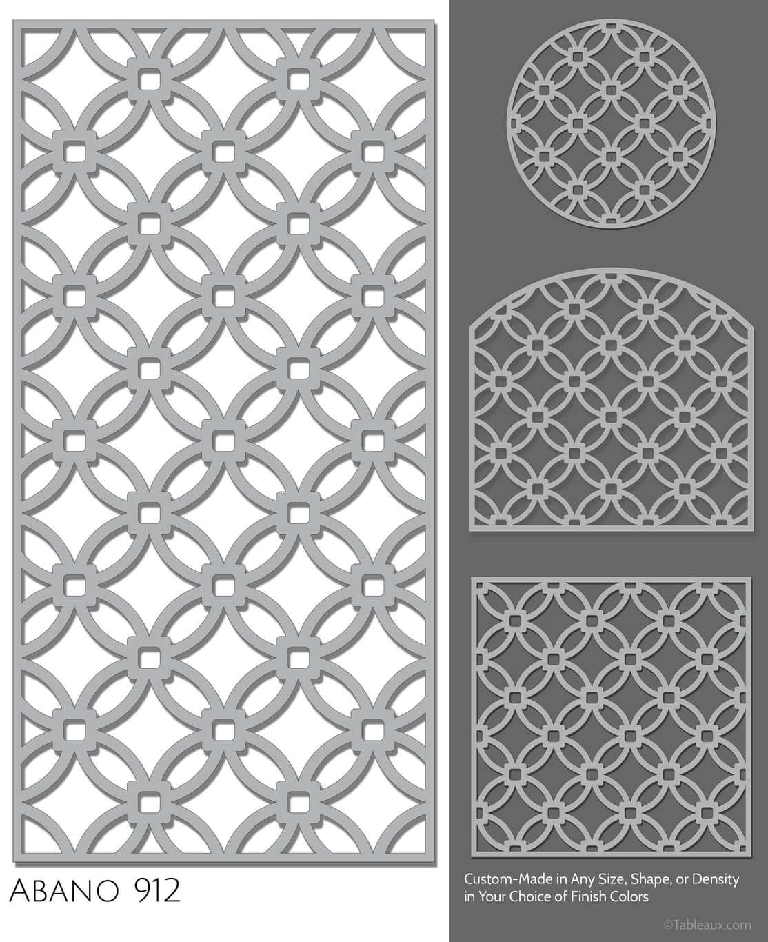 """Tableaux Decorative Grilles Design Pattern """"Abano"""""""