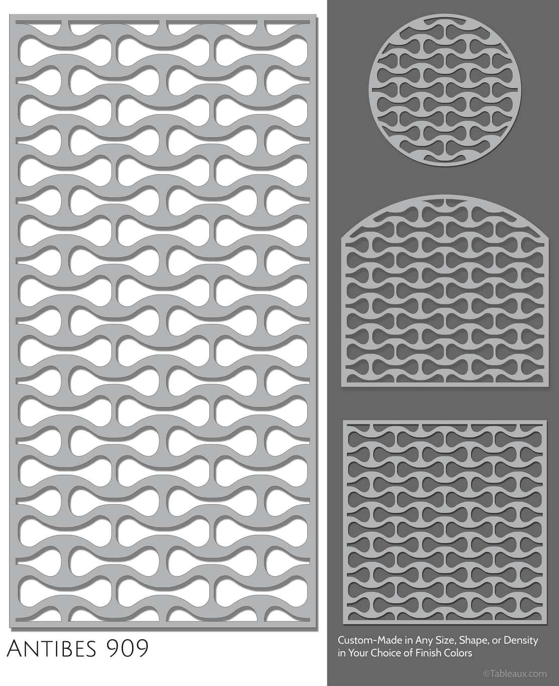"Tableaux Decorative Grilles Design Pattern ""Antibes"""