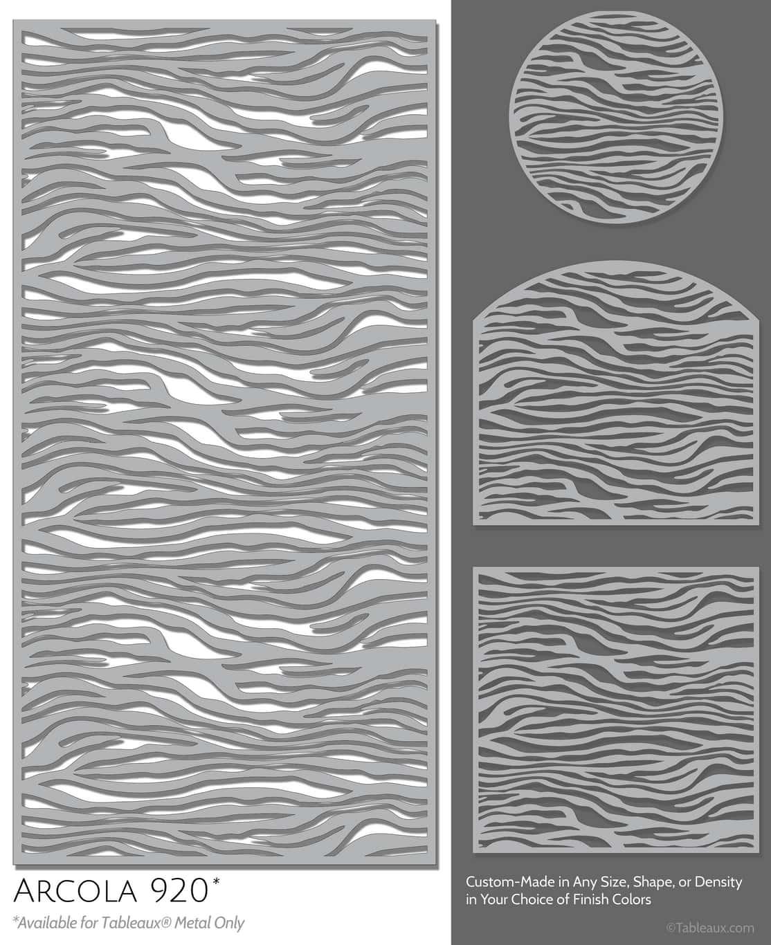 """Tableaux Decorative Grilles Design Pattern """"Arcola"""""""