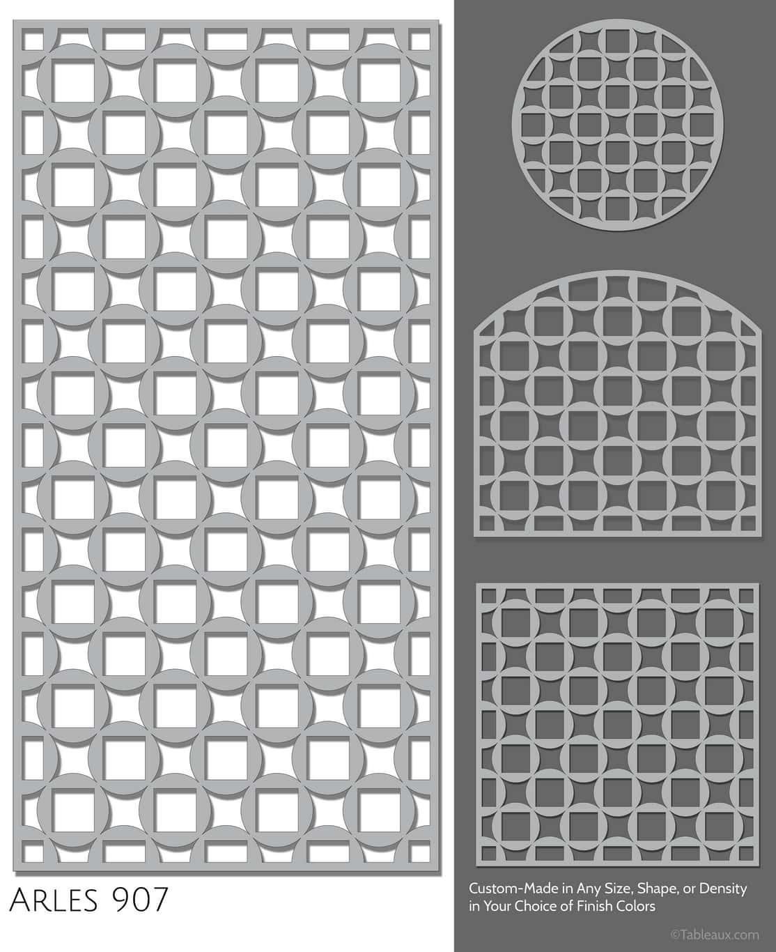 """Tableaux Decorative Grilles Design Pattern """"Arles"""""""