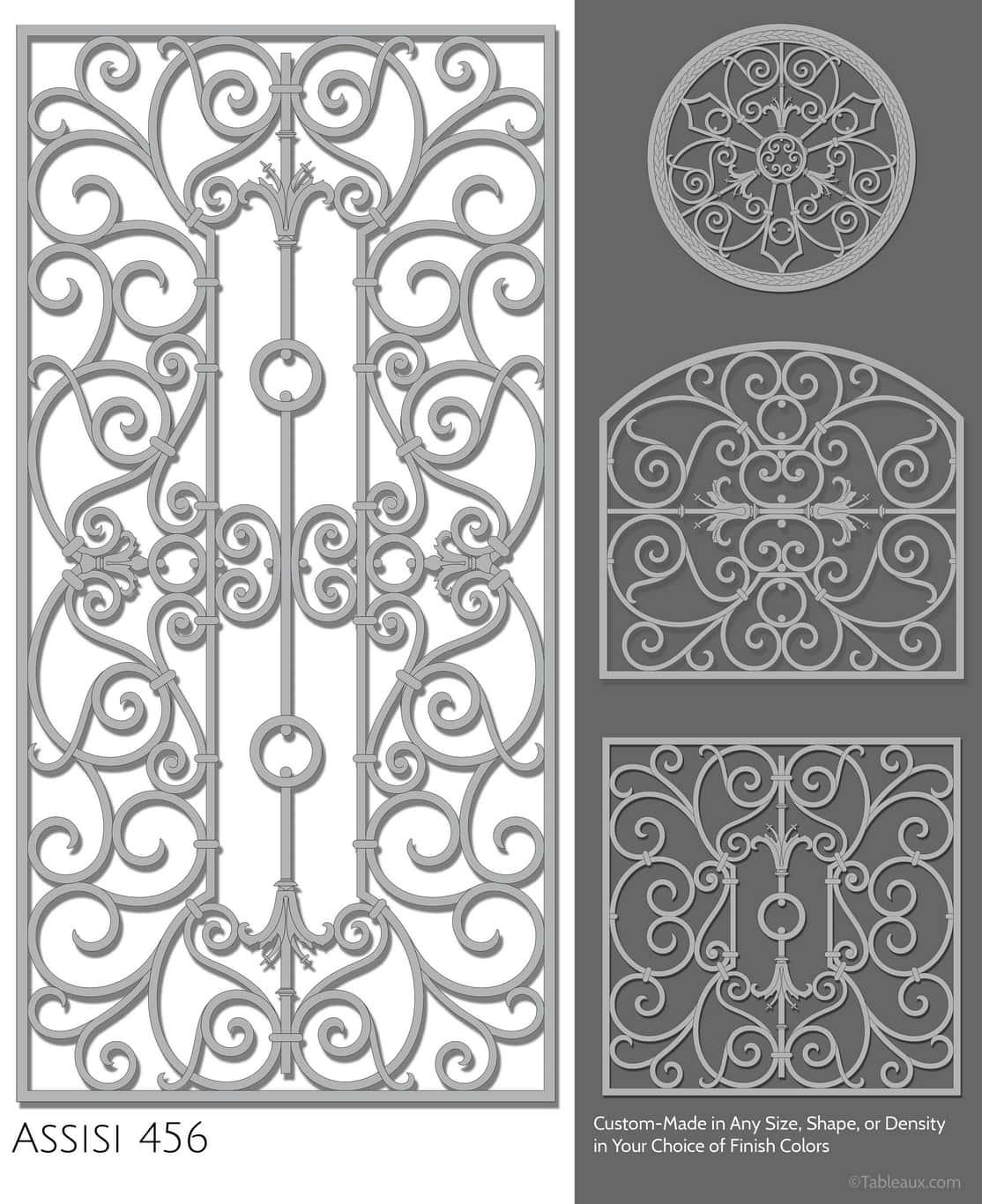"""Tableaux Decorative Grilles Design Pattern """"Assisi"""""""
