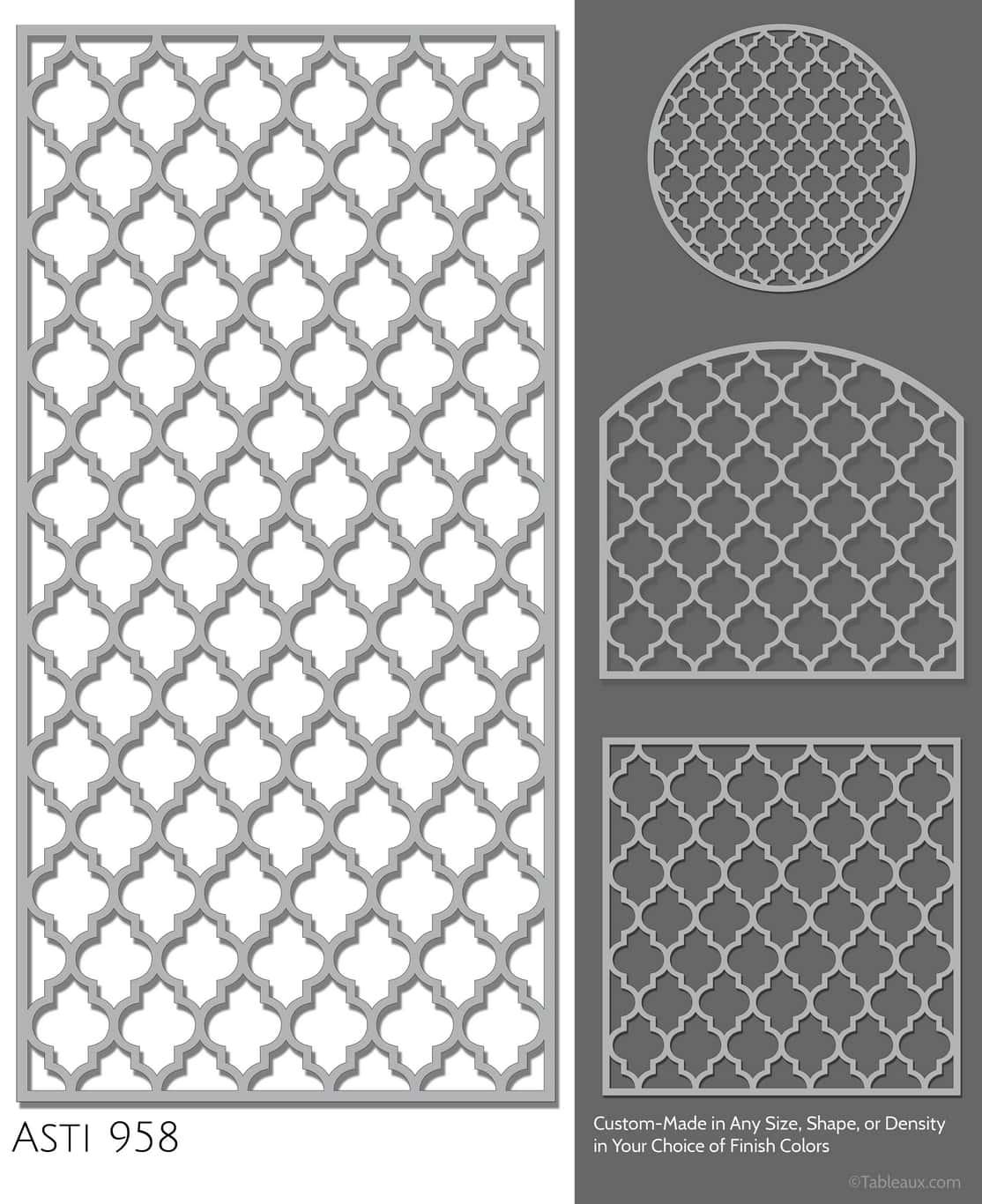 """Tableaux Decorative Grilles Design Pattern """"Asti"""""""