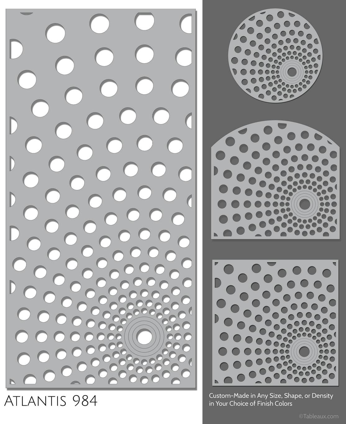 """Tableaux Decorative Grilles Design Pattern """"Atlantis"""""""