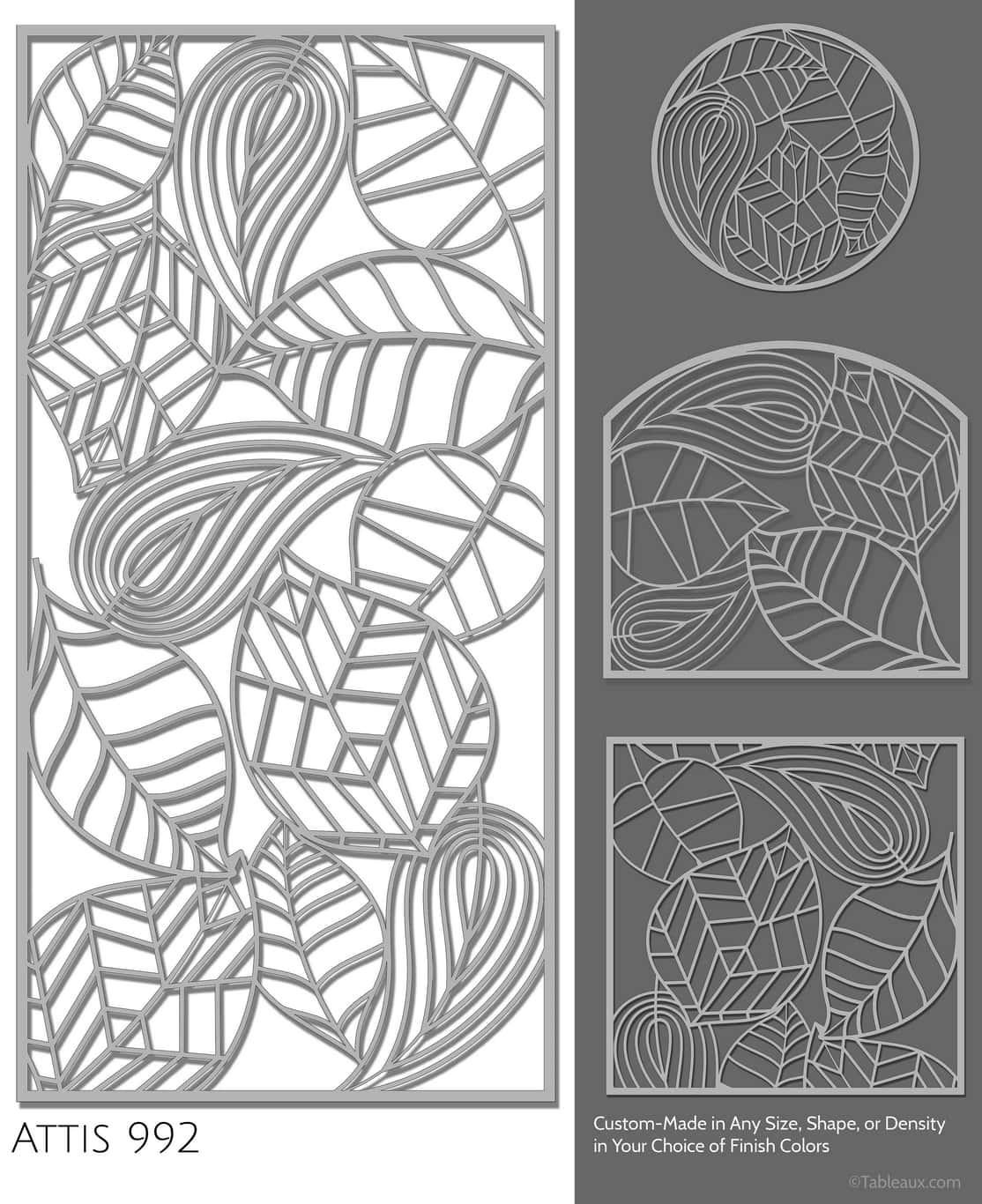 """Tableaux Decorative Grilles Design Pattern """"Attis"""""""