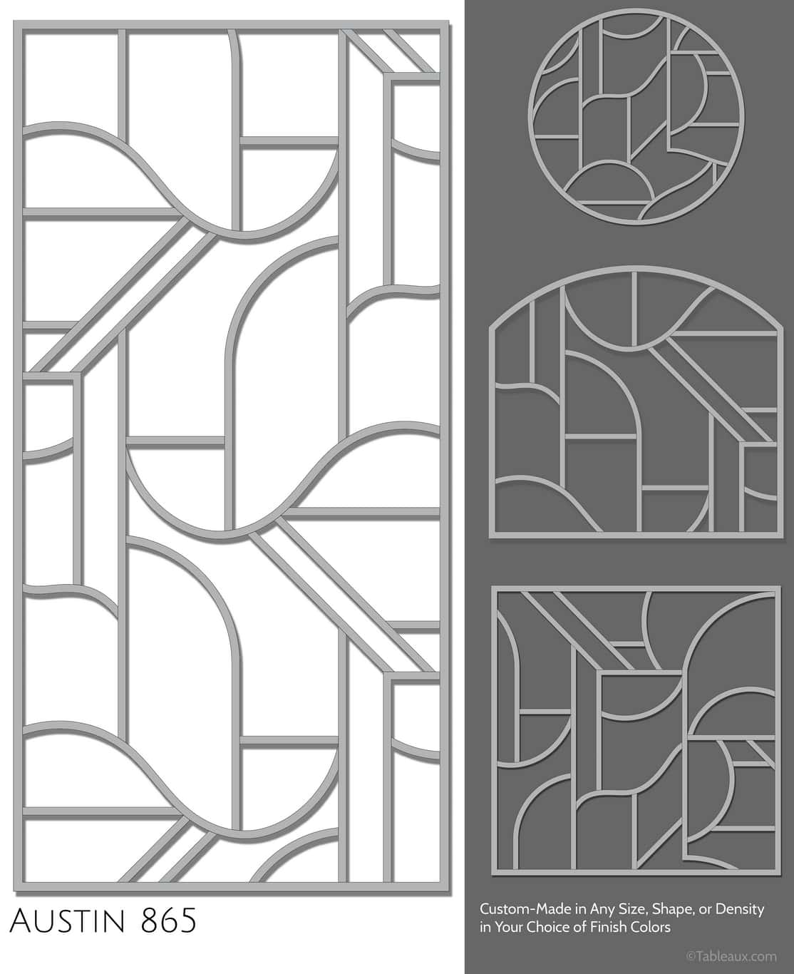 """Tableaux Decorative Grilles Design Pattern """"Austin"""""""
