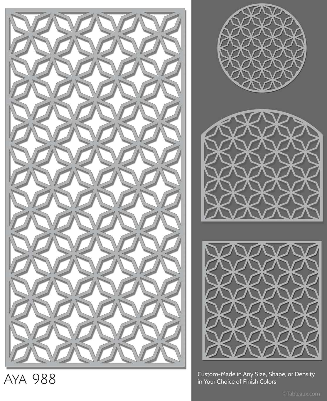 """Tableaux Decorative Grilles Design Pattern """"Aya"""""""