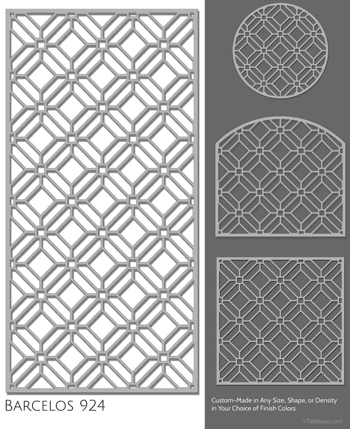 """Tableaux Decorative Grilles Design Pattern """"Barcelos"""""""