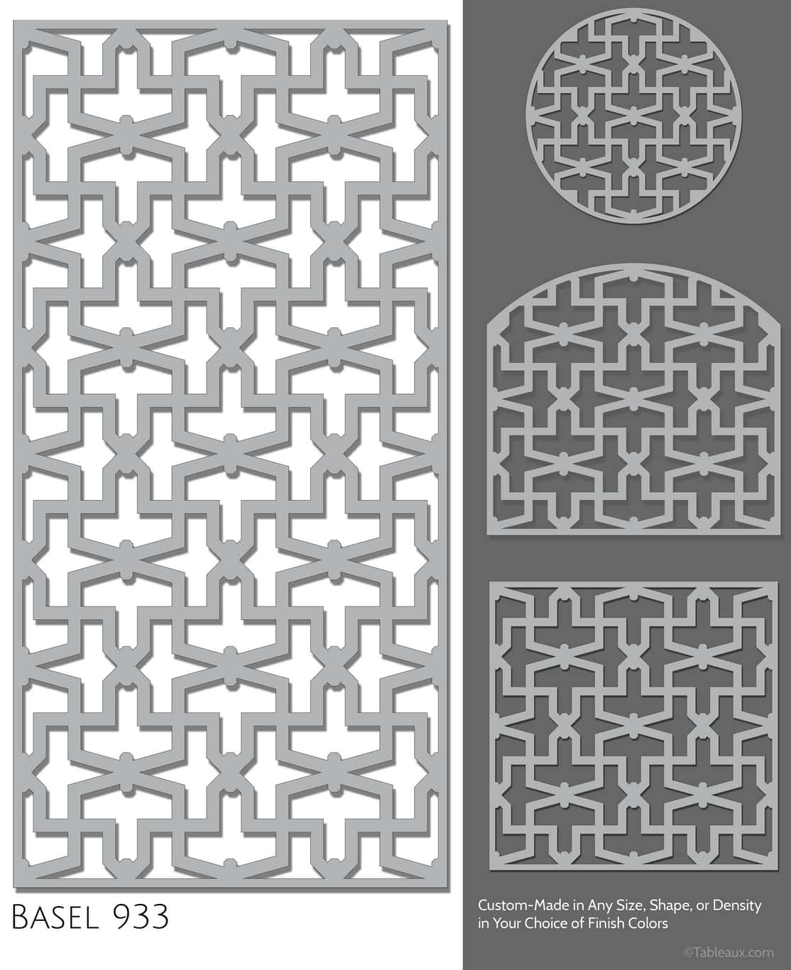 "Tableaux Decorative Grilles Design Pattern ""Basel"""