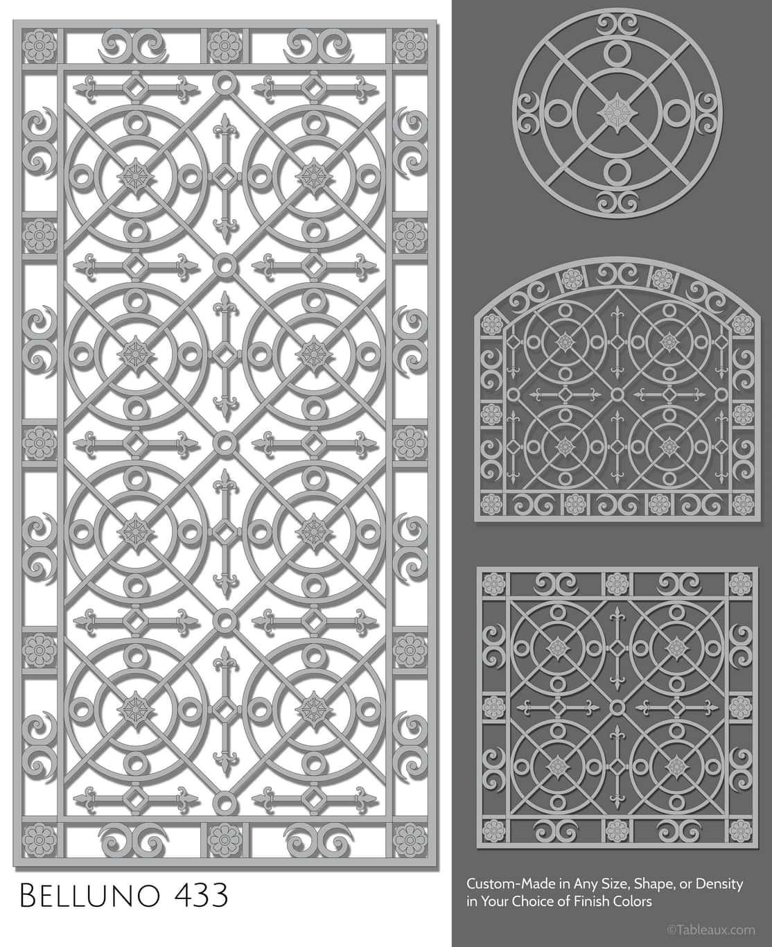 "Tableaux Decorative Grilles Design Pattern ""Belluno"""