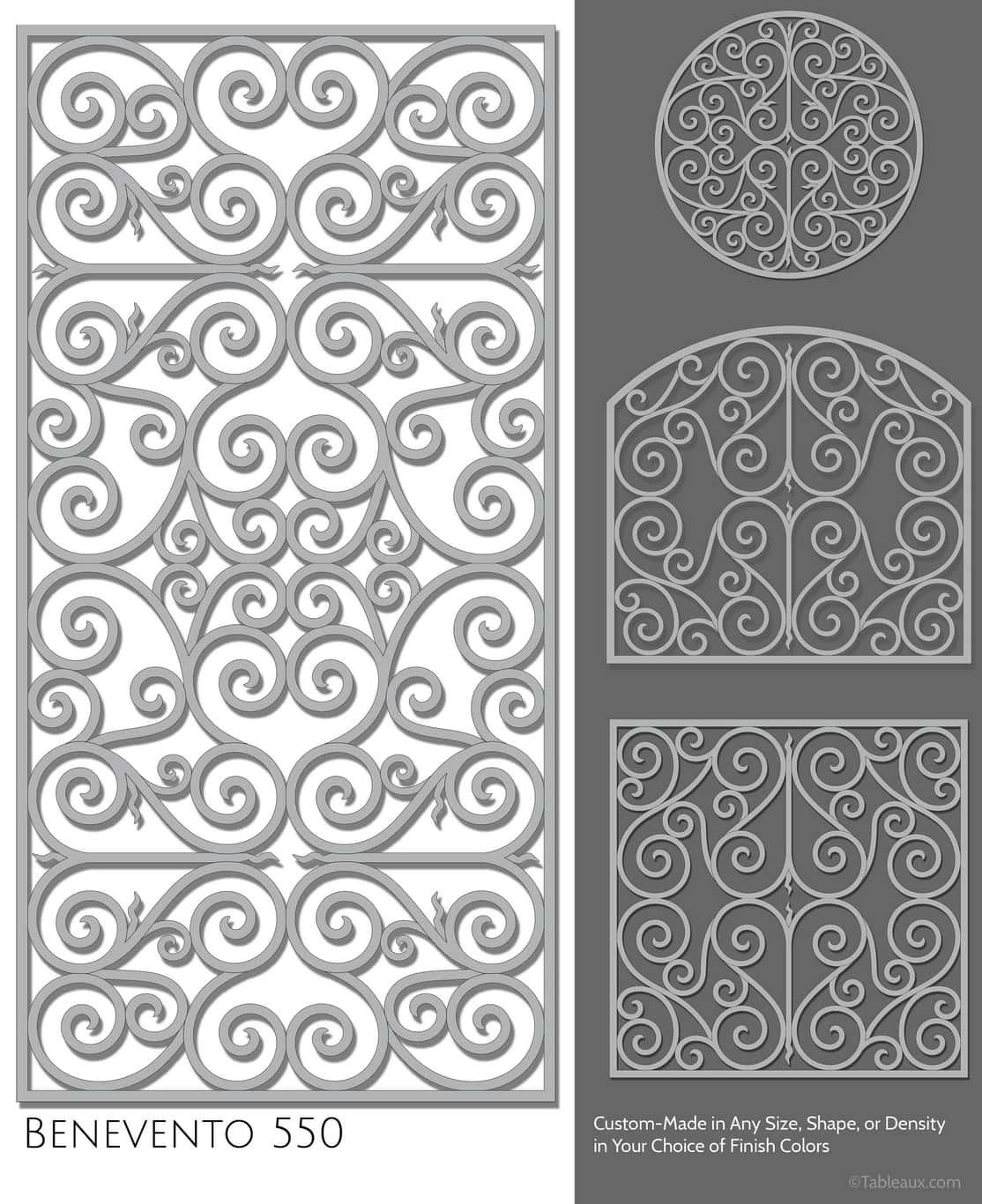"""Tableaux Decorative Grilles Design Pattern """"Benevento"""""""