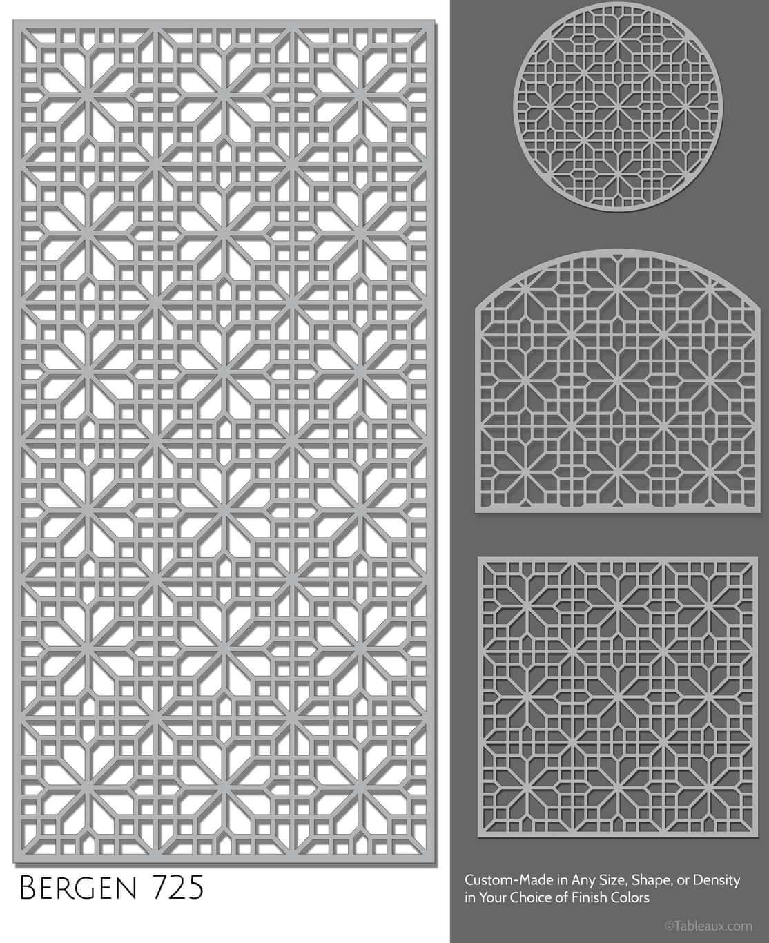 """Tableaux Decorative Grilles Design Pattern """"Bergen"""""""