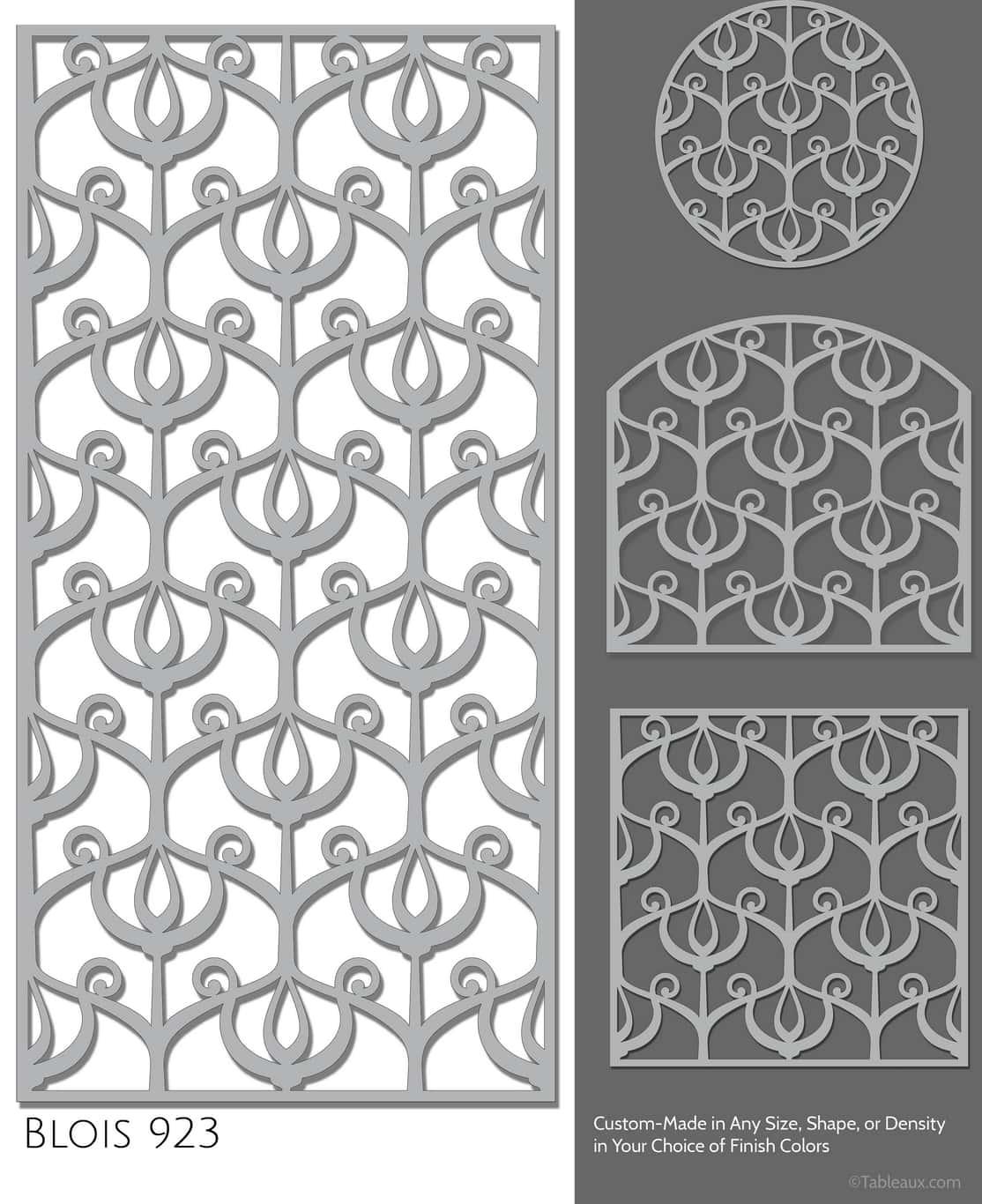 """Tableaux Decorative Grilles Design Pattern """"Blois"""""""