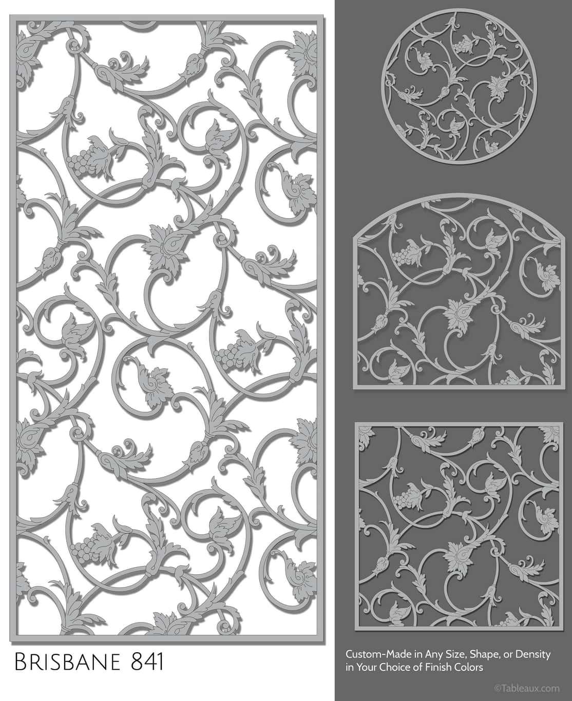 """Tableaux Decorative Grilles Design Pattern """"Brisbane"""""""