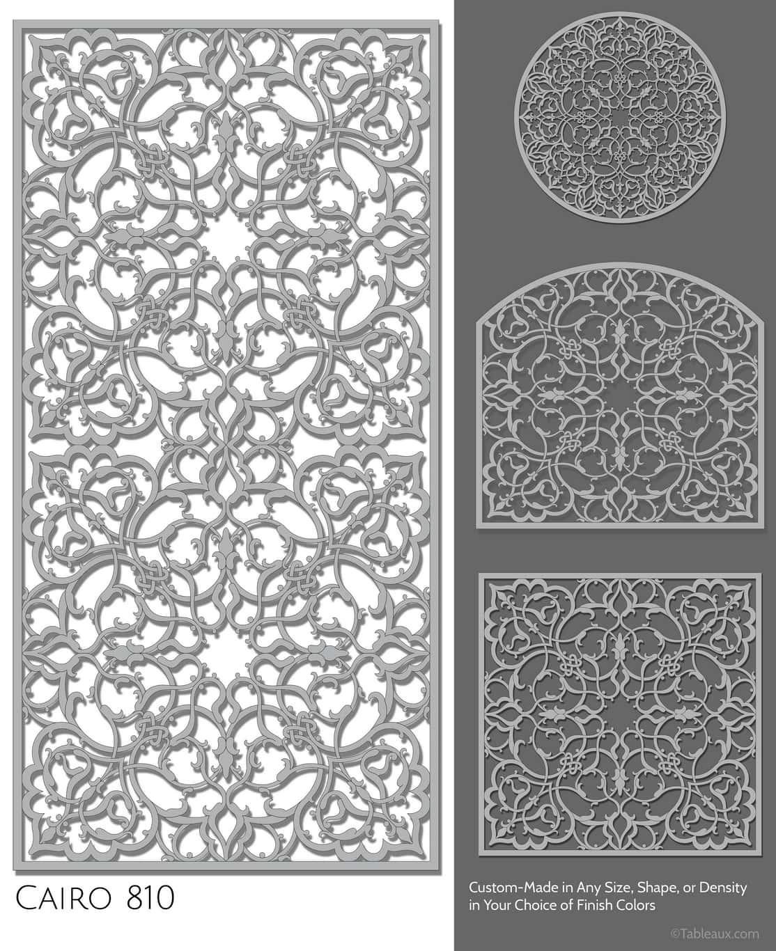 """Tableaux Decorative Grilles Design Pattern """"Cairo"""""""