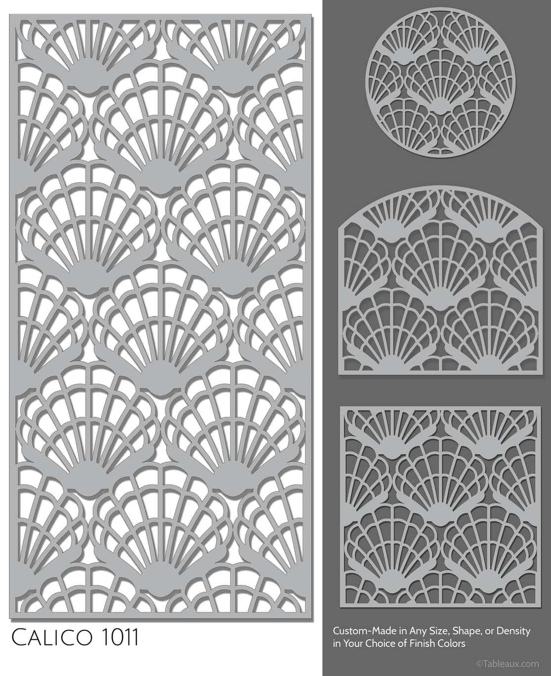 """Tableaux Decorative Grilles Design Pattern """"Calico"""""""