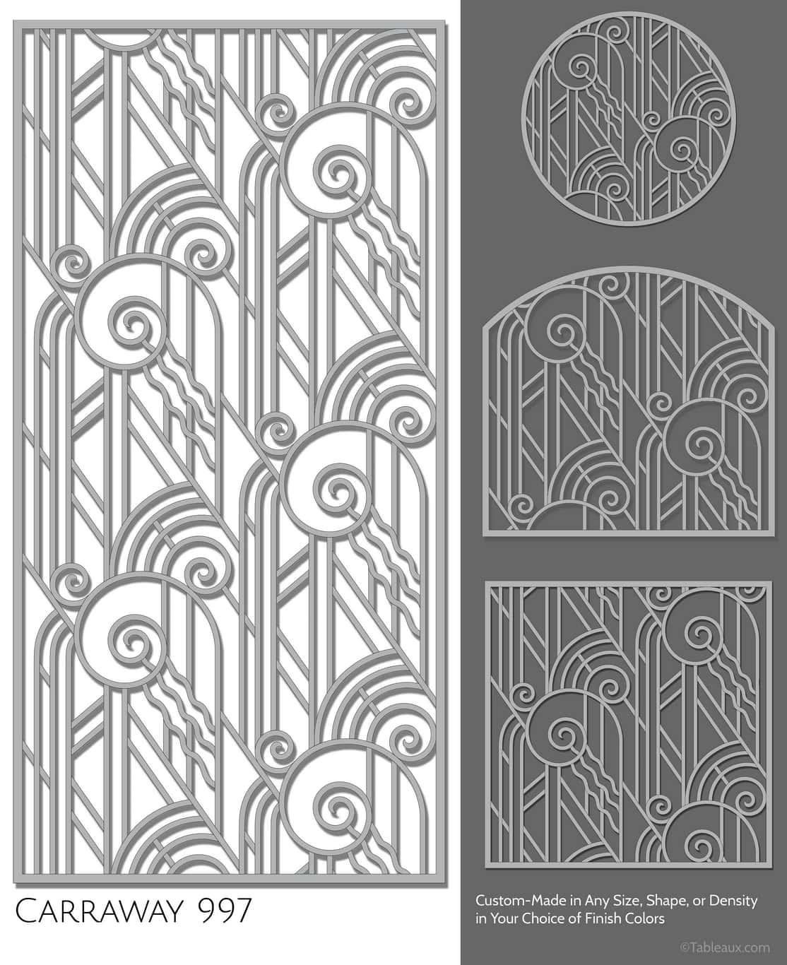 """Tableaux Decorative Grilles Design Pattern """"Carraway"""""""