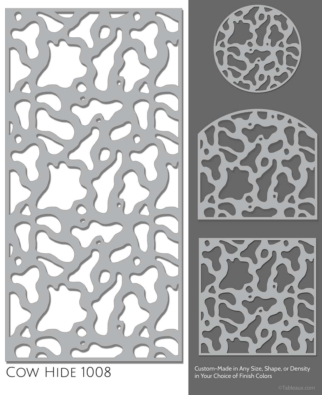 """Tableaux Decorative Grilles Design Pattern """"Cow Hide"""""""