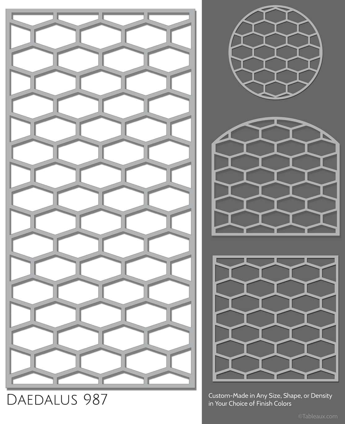 """Tableaux Decorative Grilles Design Pattern """"Daedalus"""""""