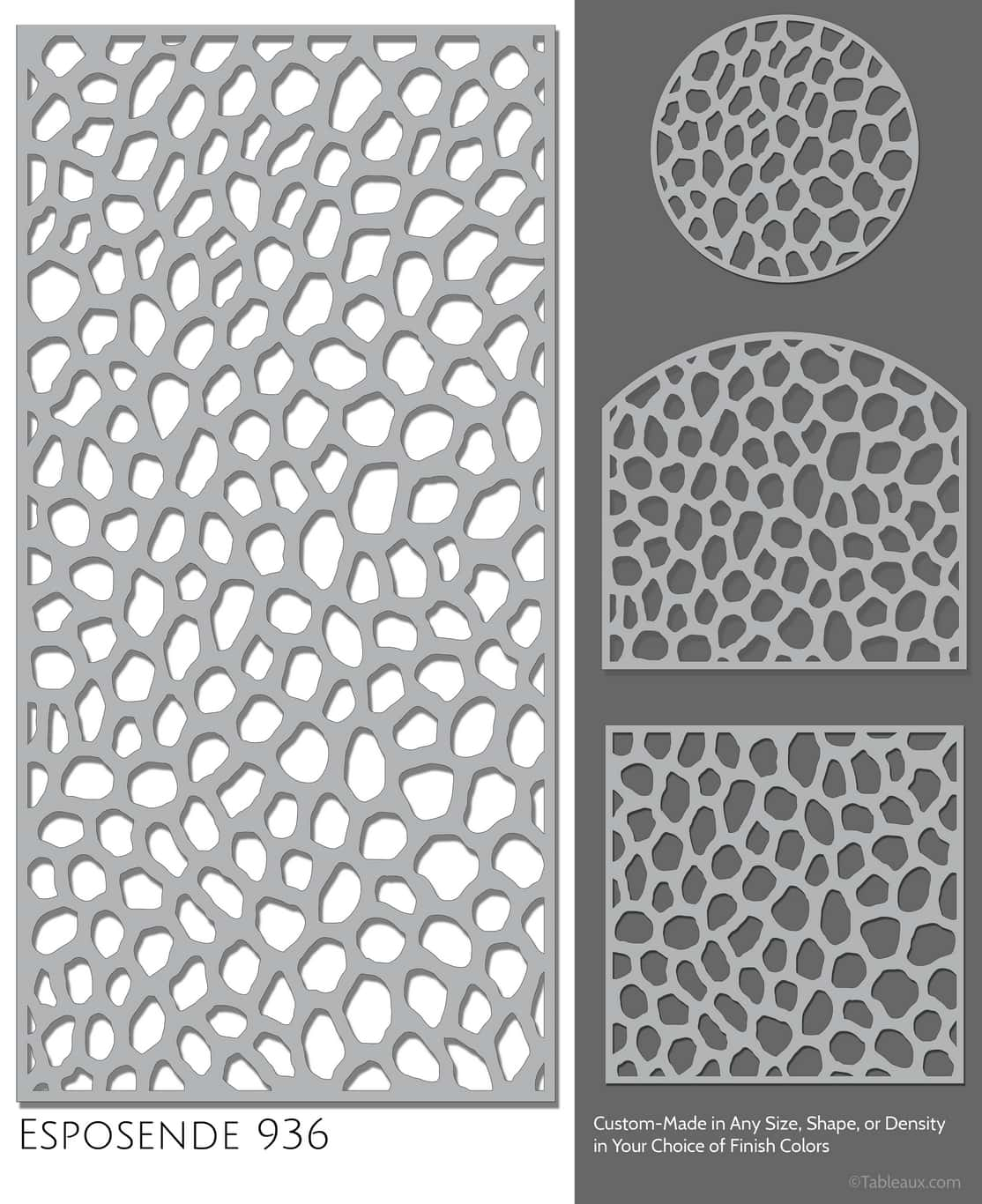 "Tableaux Decorative Grilles Design Pattern ""Esposende"""