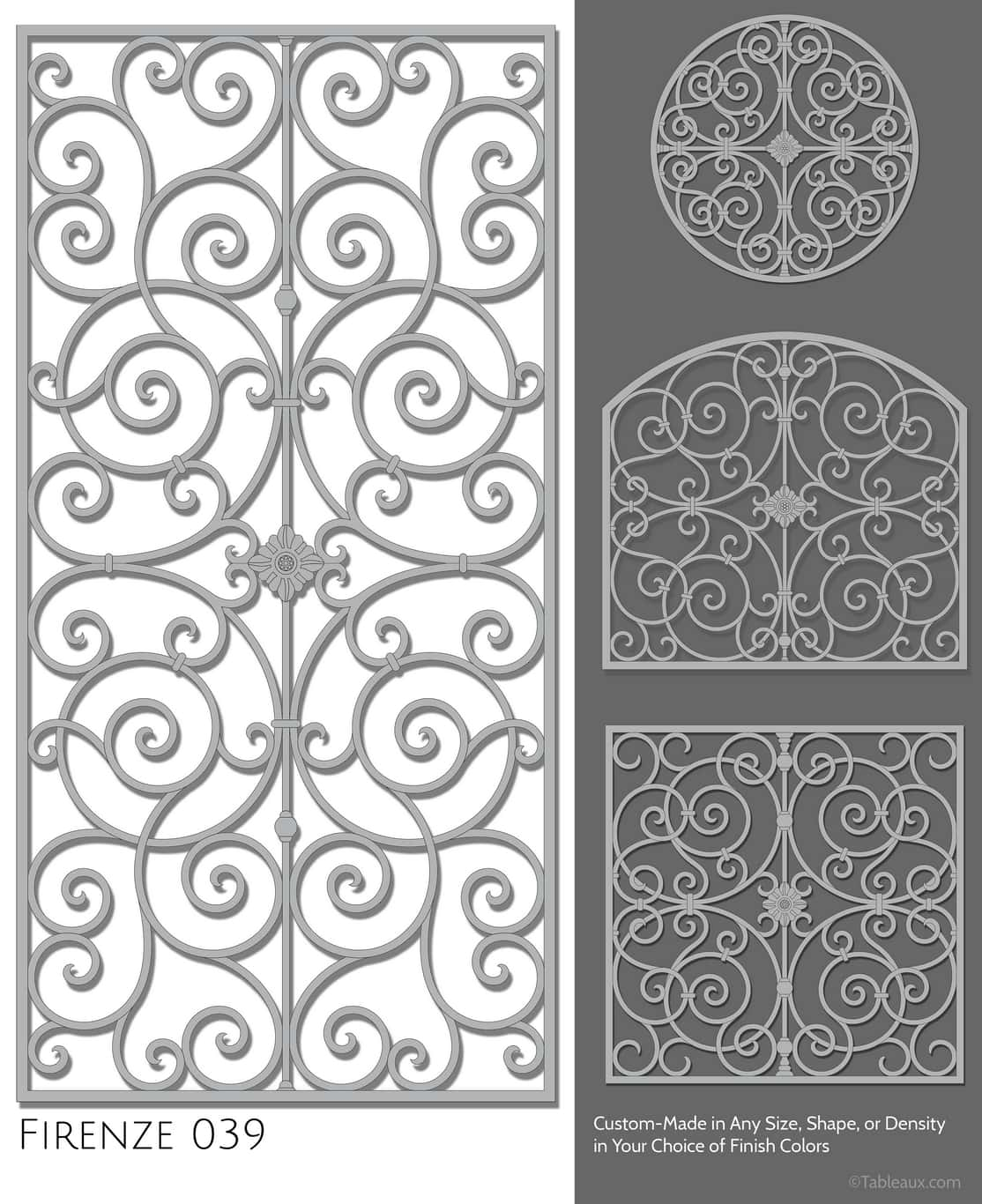 "Tableaux Decorative Grilles Design Pattern ""Firenze"""