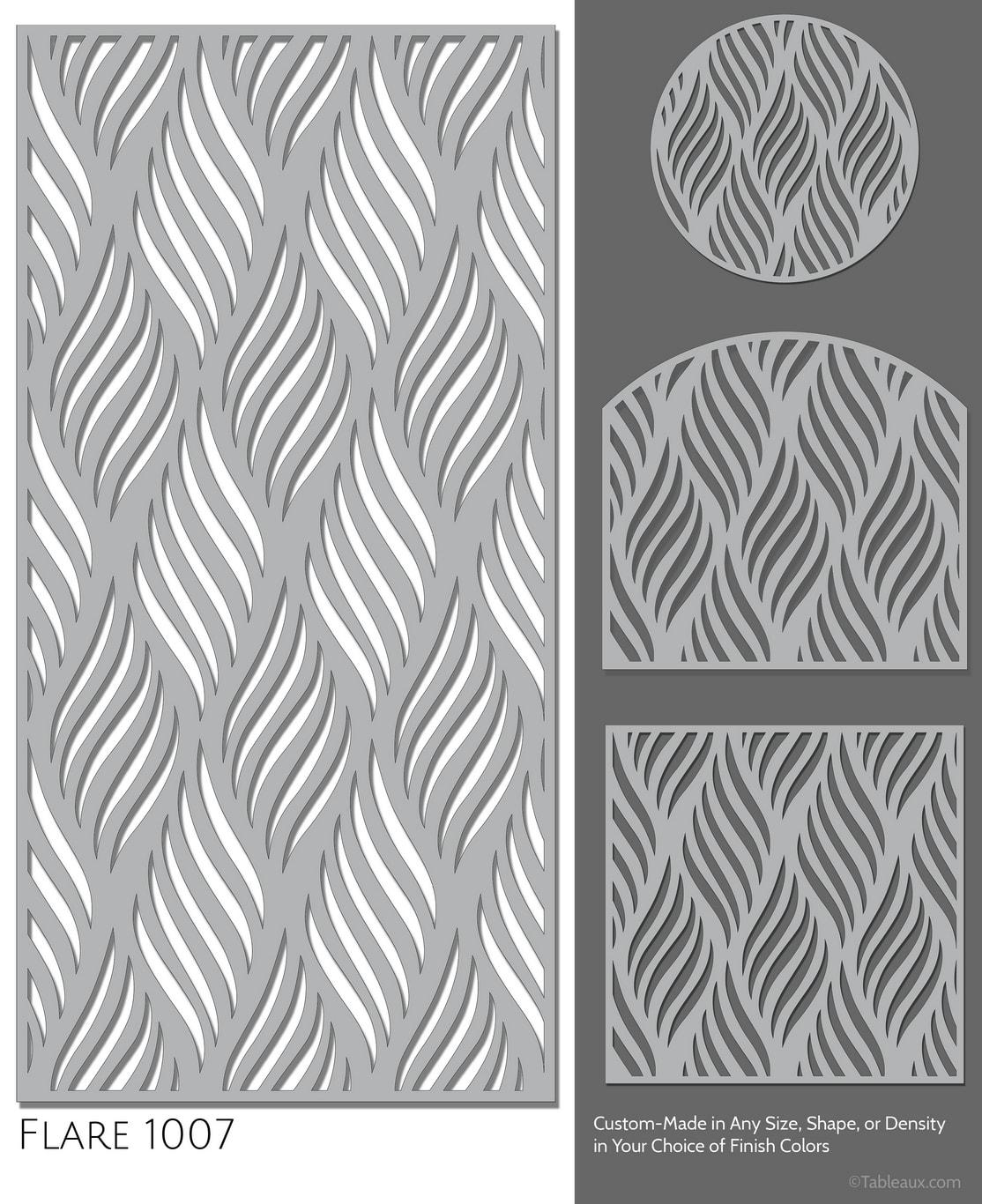 """Tableaux Decorative Grilles Design Pattern """"Flare"""""""