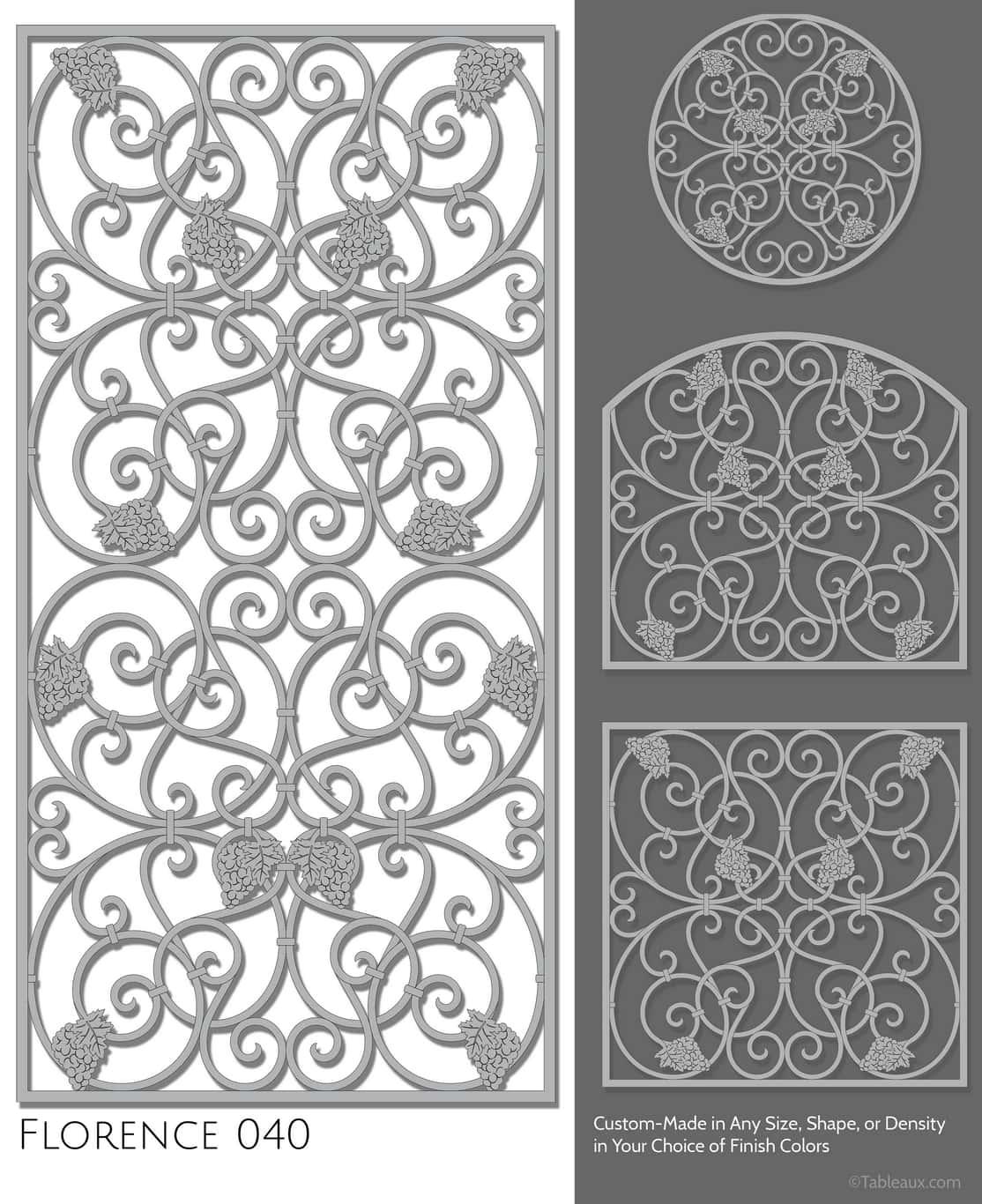 """Tableaux Decorative Grilles Design Pattern """"Florence"""""""