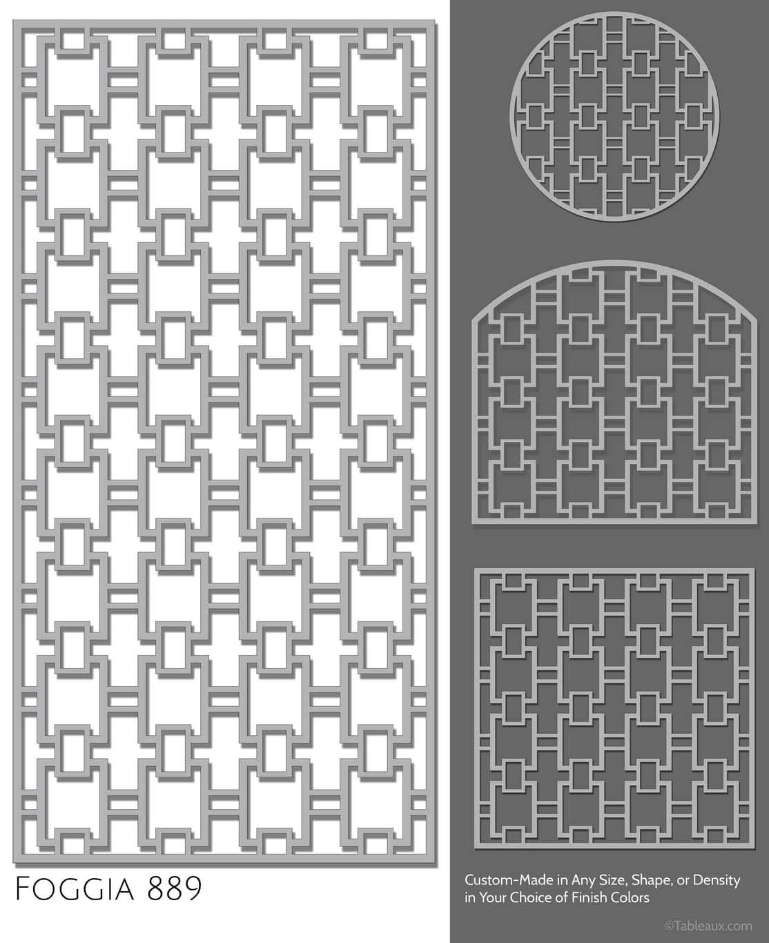 """Tableaux Decorative Grilles Design Pattern """"Foggia"""""""