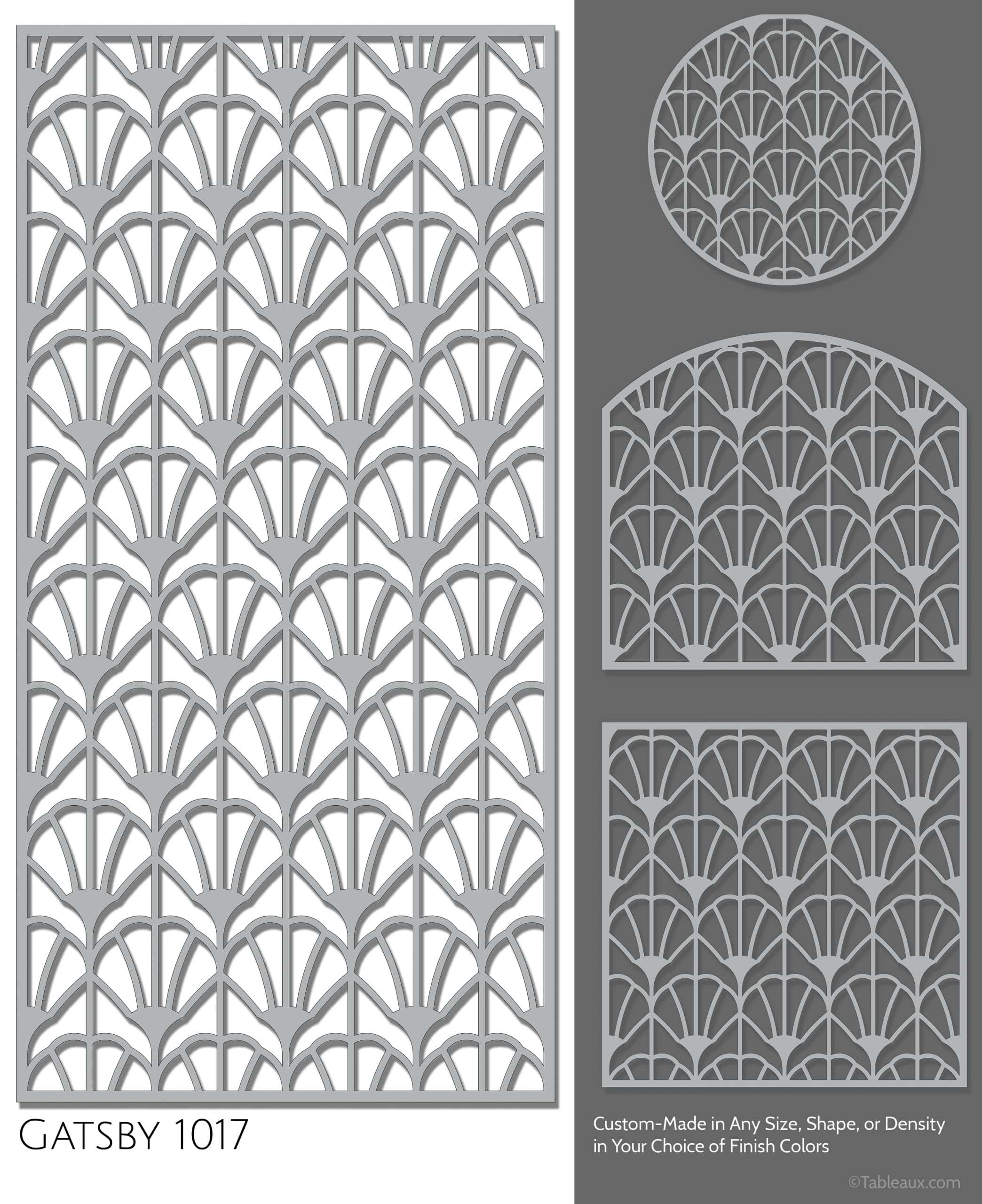 "Tableaux Decorative Grilles Design Pattern ""Gatsby"""