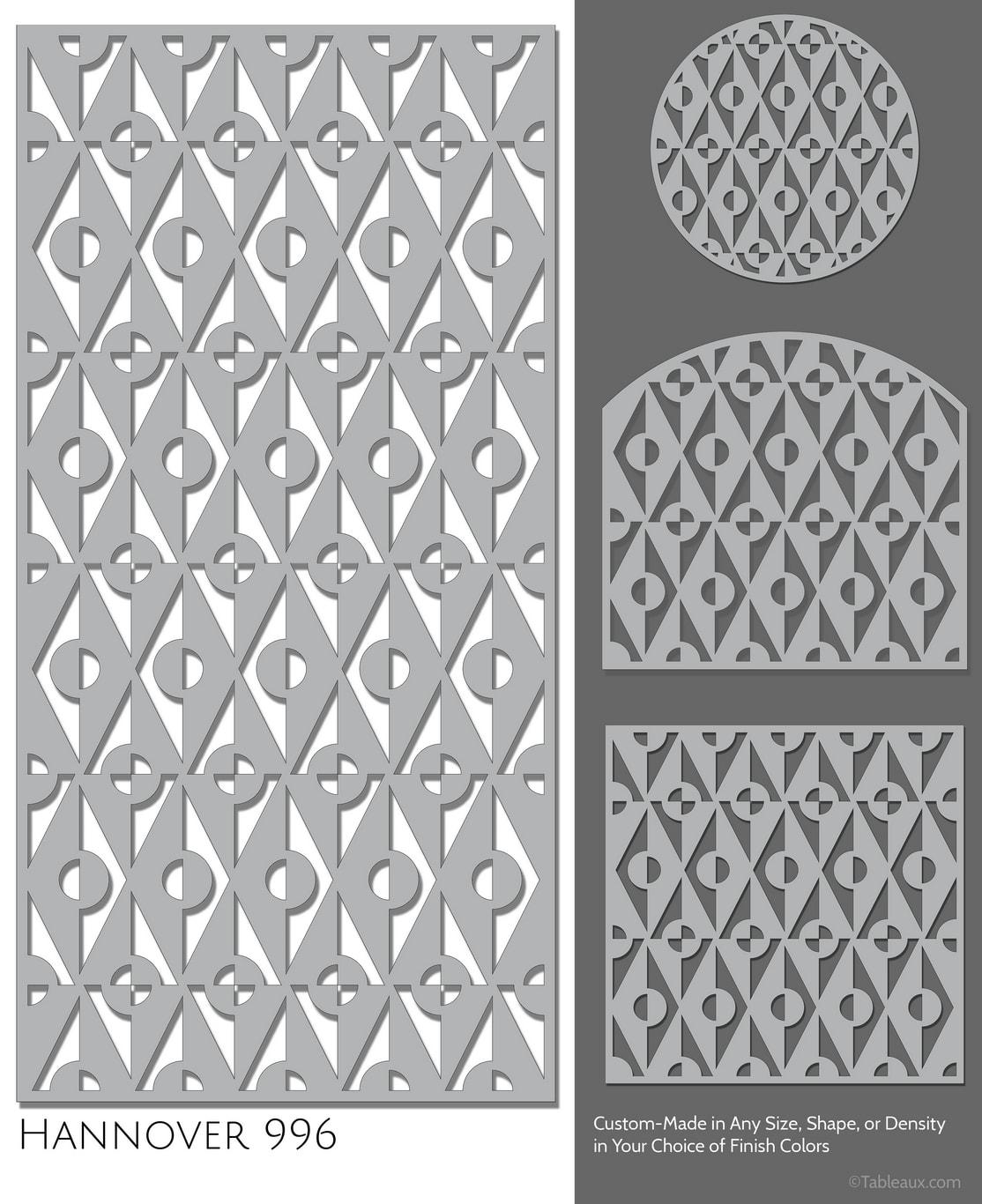 "Tableaux Decorative Grilles Design Pattern ""Hannover"""