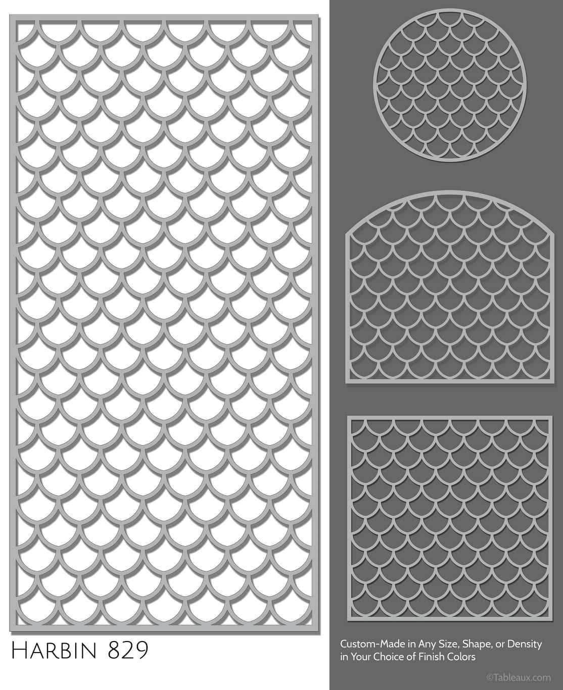 """Tableaux Decorative Grilles Design Pattern """"Harbin"""""""