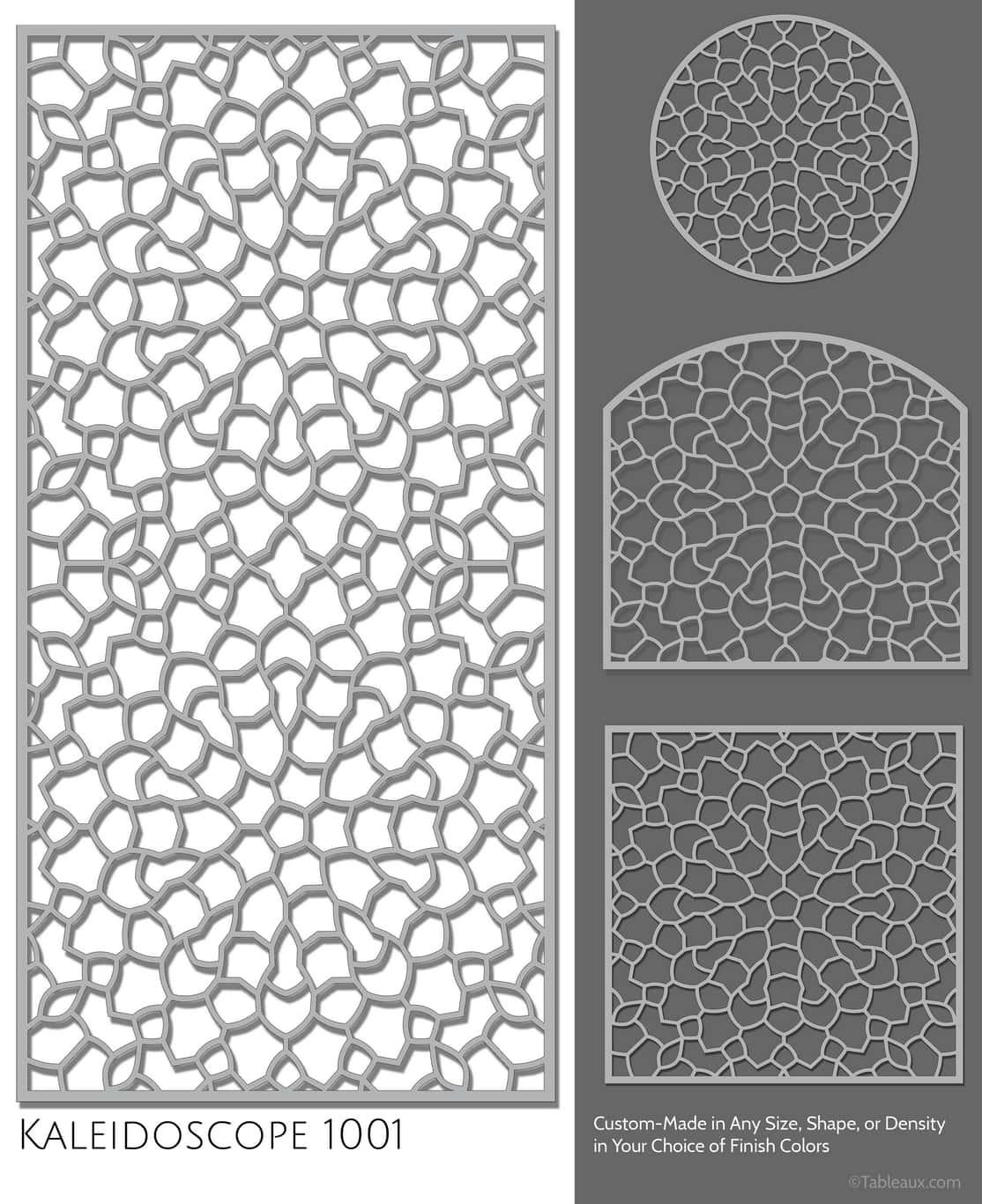 "Tableaux Decorative Grilles Design Pattern ""Kaleidoscope"""