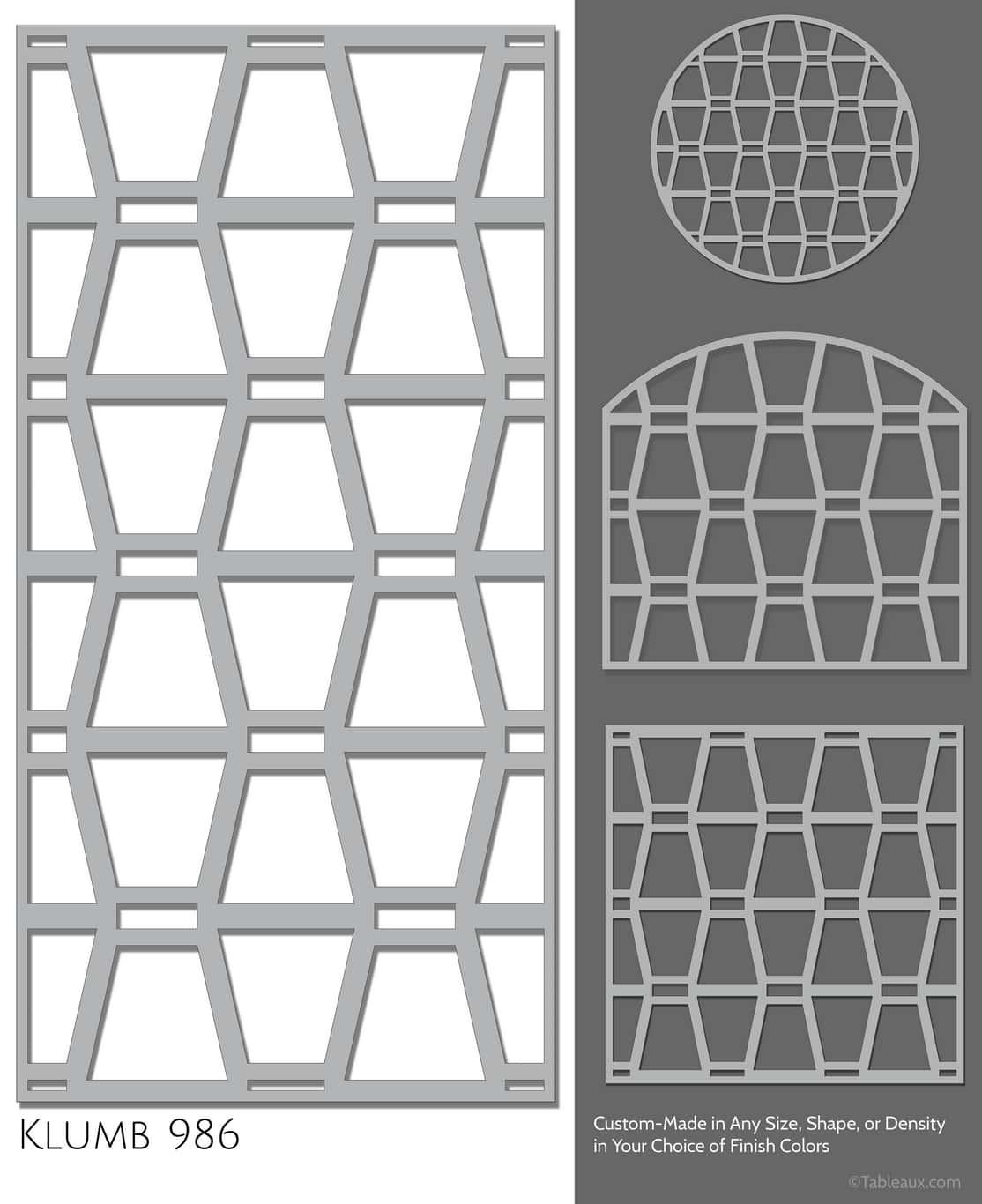 """Tableaux Decorative Grilles Design Pattern """"Klumb"""""""