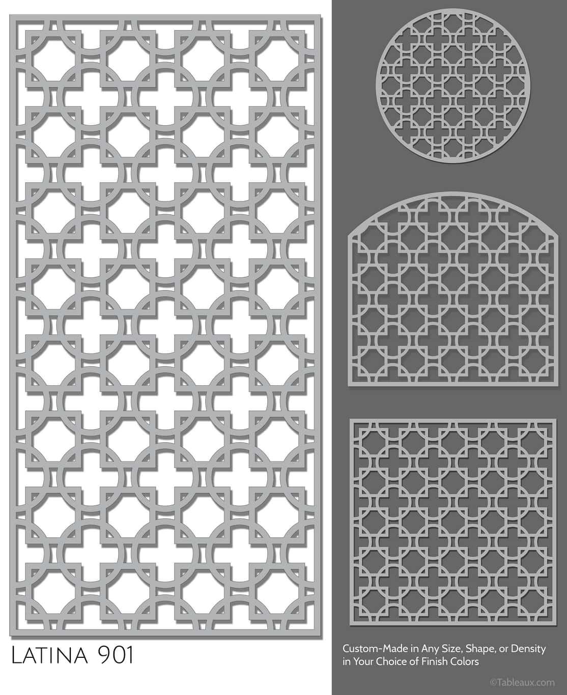 "Tableaux Decorative Grilles Design Pattern ""Latina"""