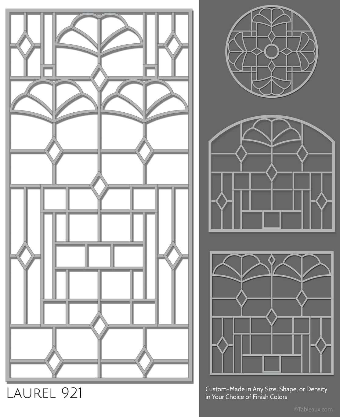"""Tableaux Decorative Grilles Design Pattern """"Laurel"""""""