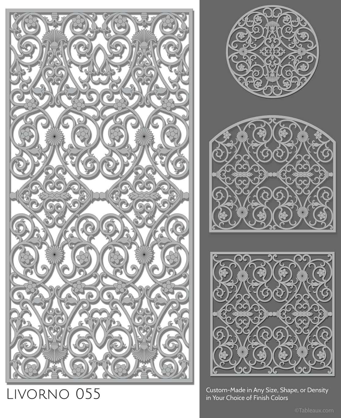 "Tableaux Decorative Grilles Design Pattern ""Livorno"""