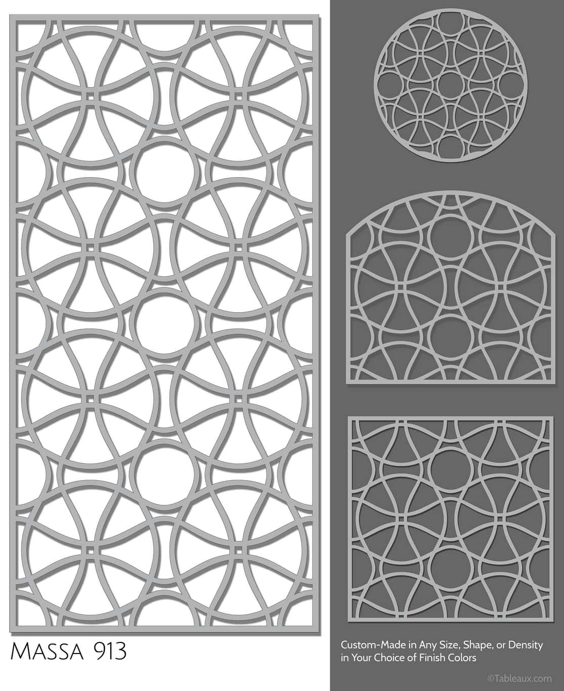 """Tableaux Decorative Grilles Design Pattern """"Massa"""""""