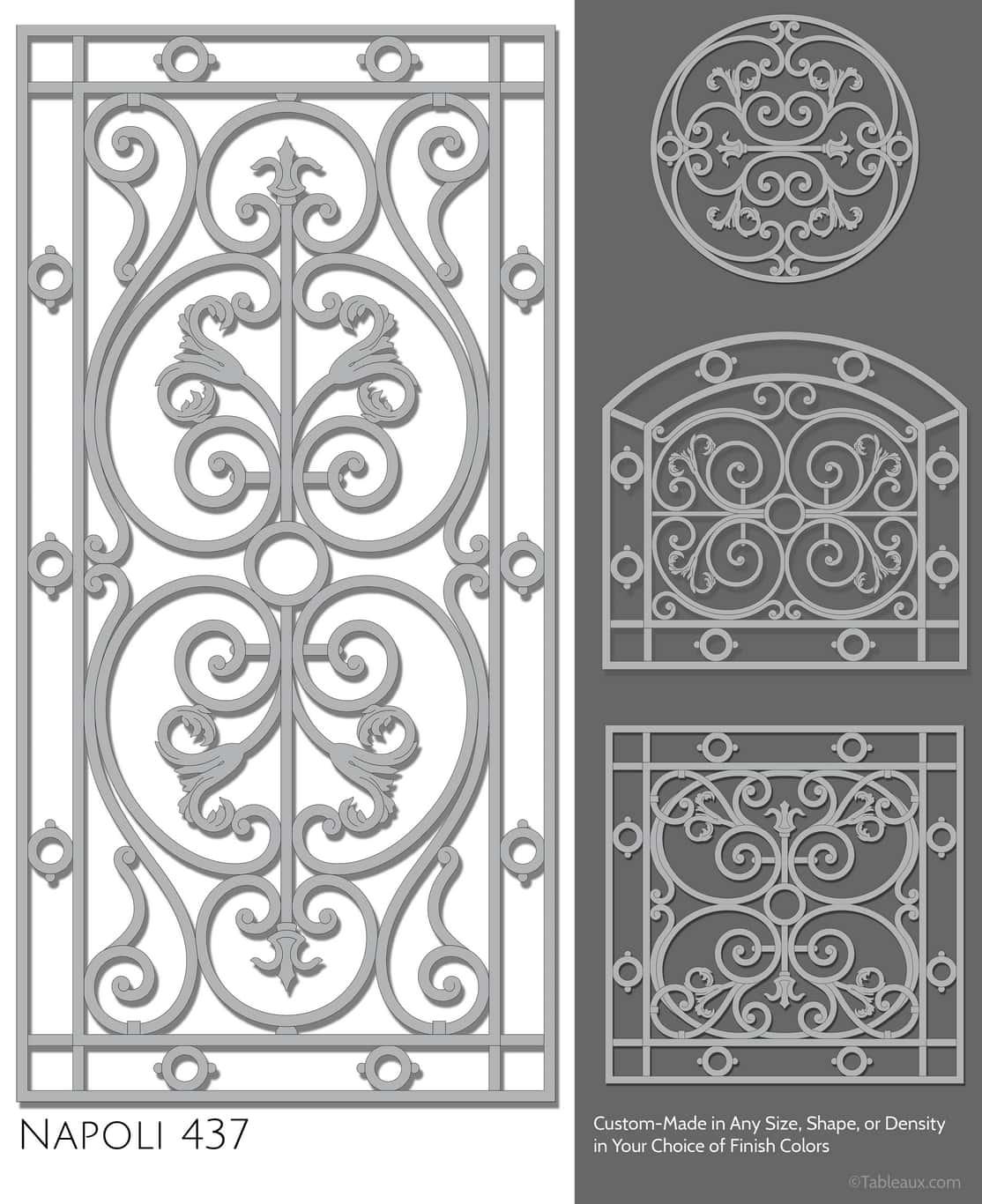 """Tableaux Decorative Grilles Design Pattern """"Napoli"""""""
