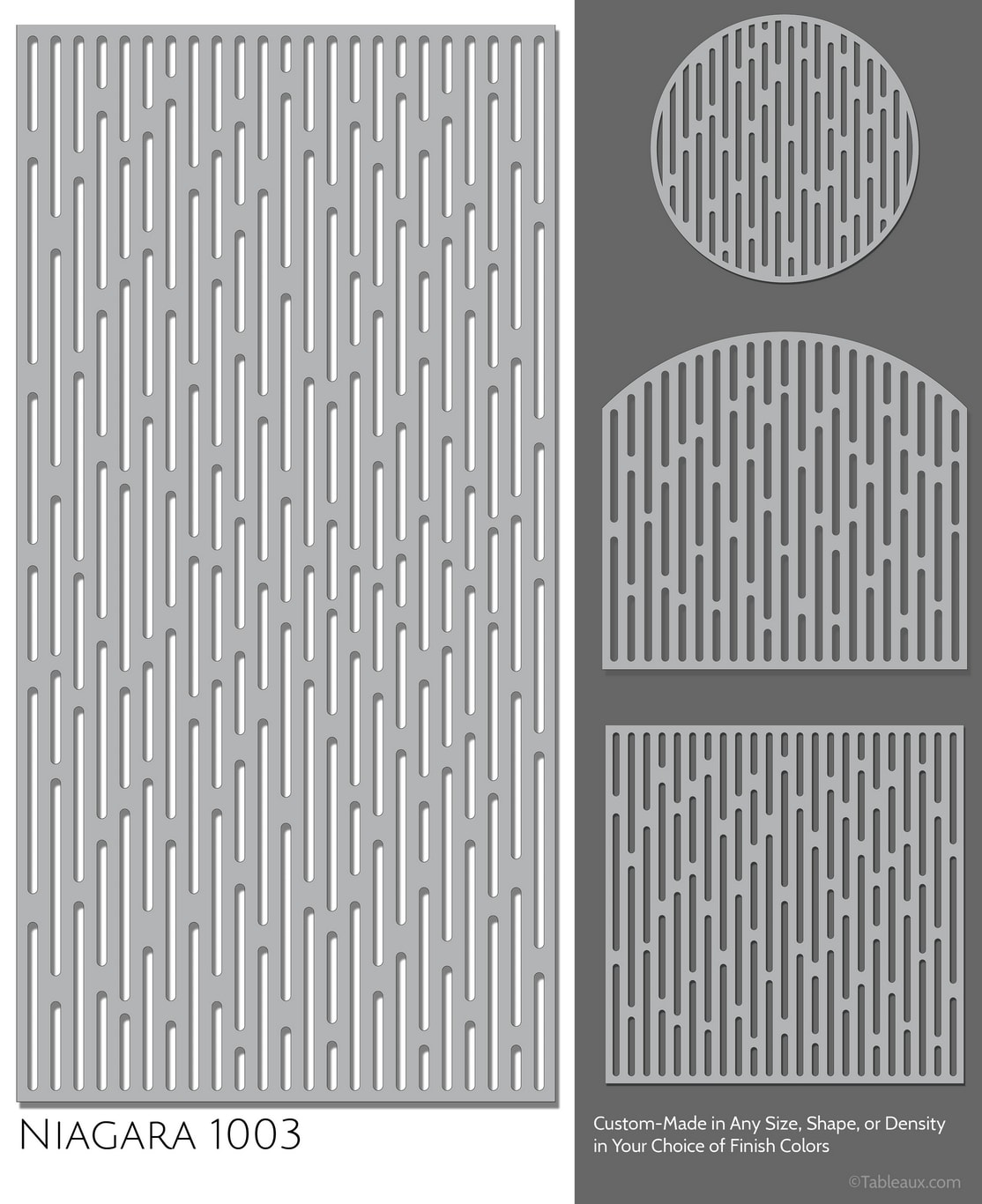 "Tableaux Decorative Grilles Design Pattern ""Niagara"""