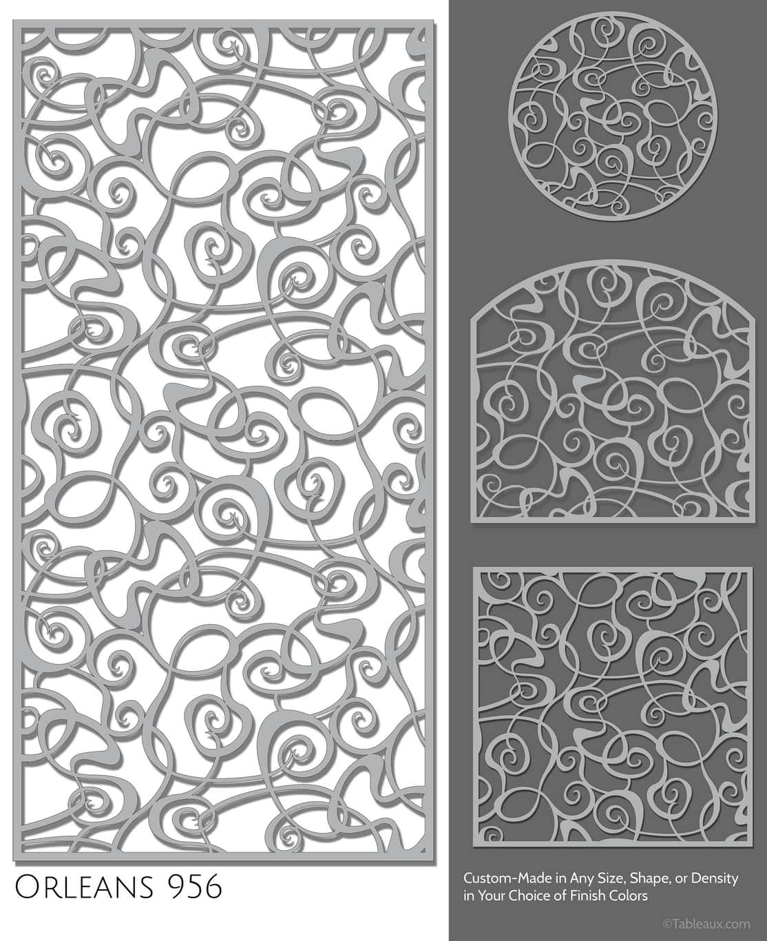 """Tableaux Decorative Grilles Design Pattern """"Orleans"""""""