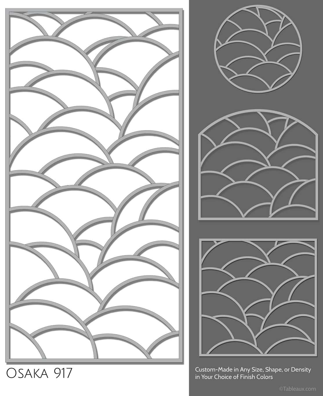 "Tableaux Decorative Grilles Design Pattern ""Osaka"""