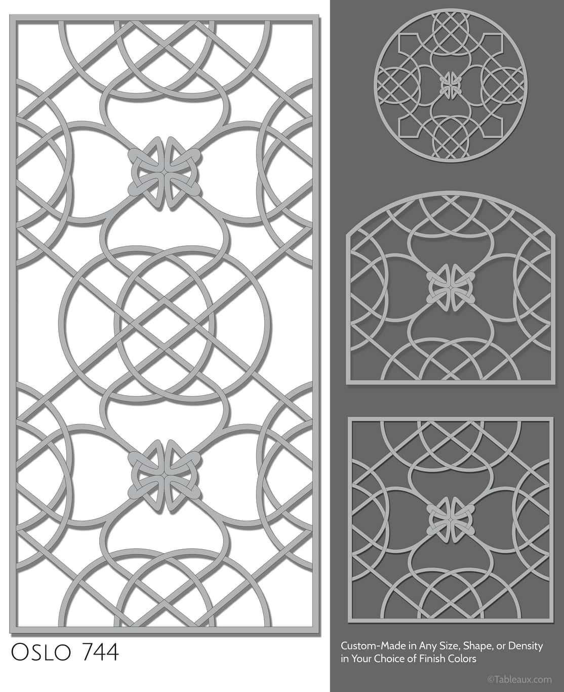 """Tableaux Decorative Grilles Design Pattern """"Oslo"""""""