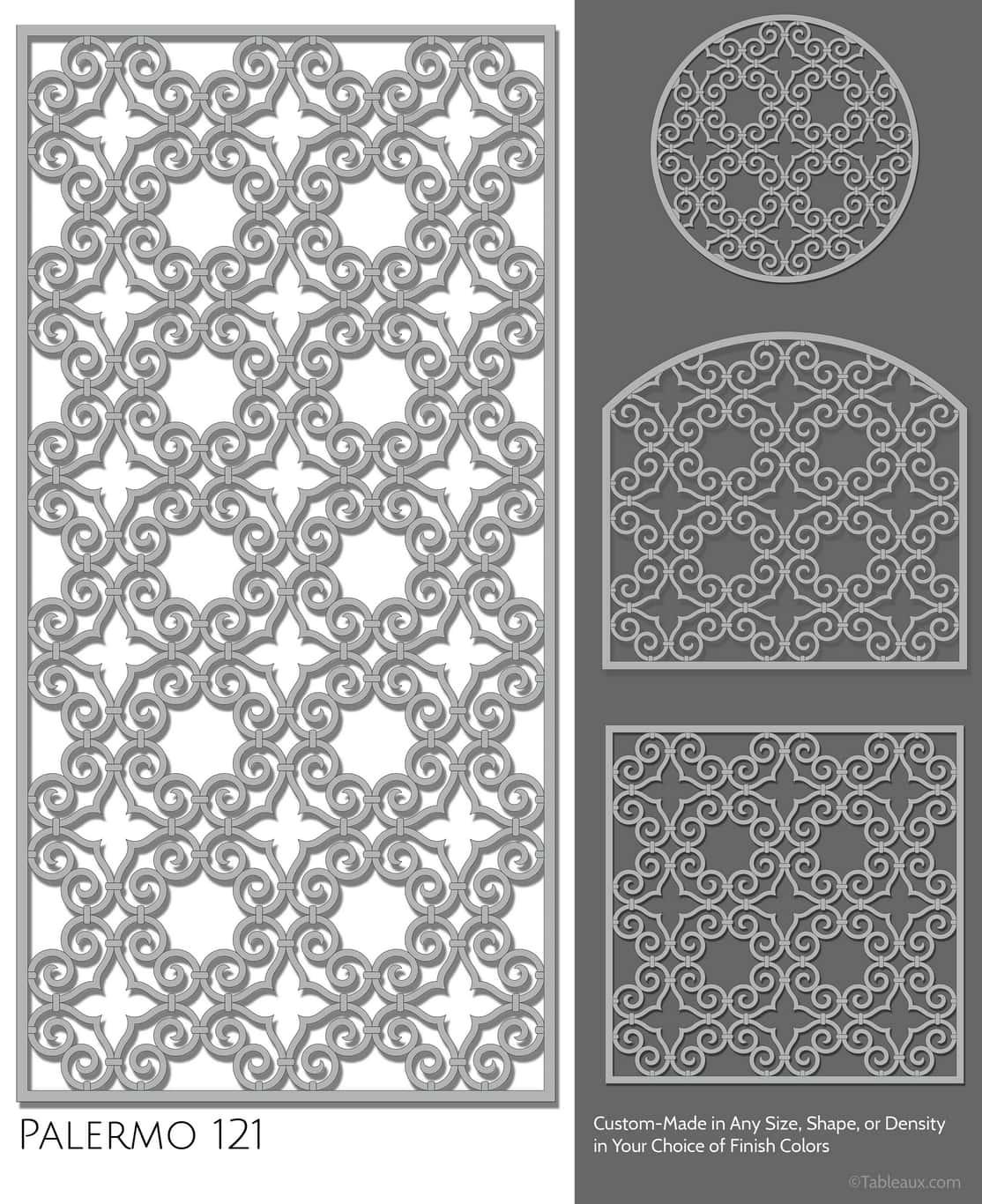 """Tableaux Decorative Grilles Design Pattern """"Palermo"""""""