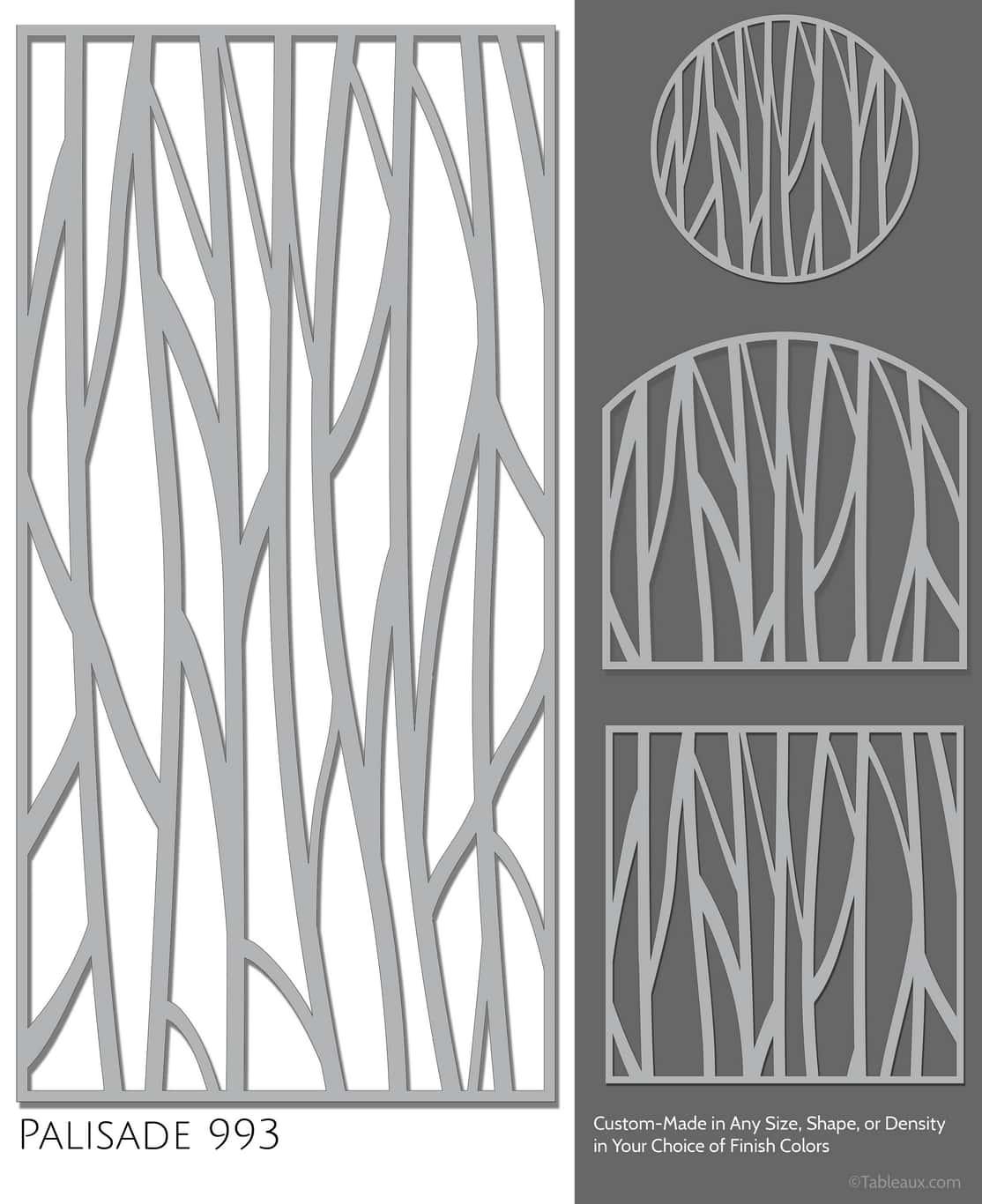 "Tableaux Decorative Grilles Design Pattern ""Palisade"""
