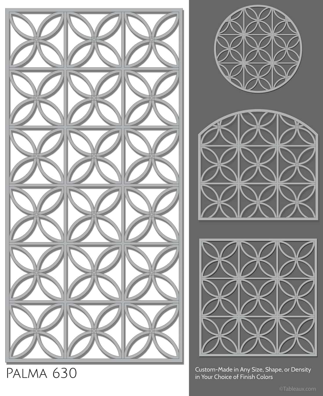 """Tableaux Decorative Grilles Design Pattern """"Palma"""""""