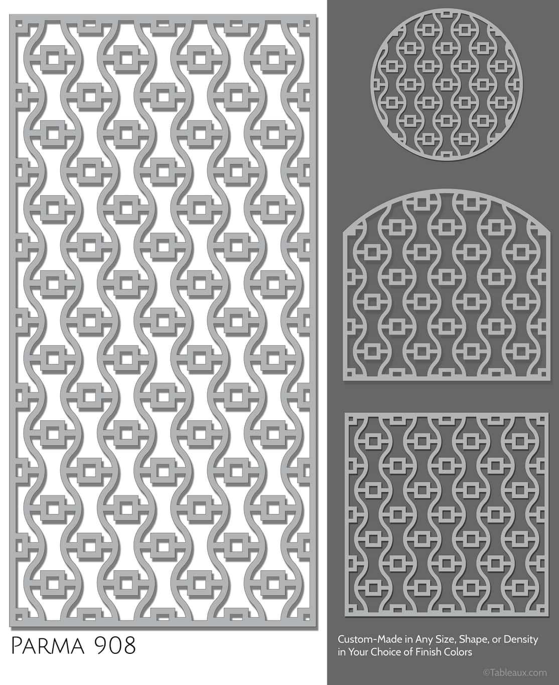 """Tableaux Decorative Grilles Design Pattern """"Parma"""""""