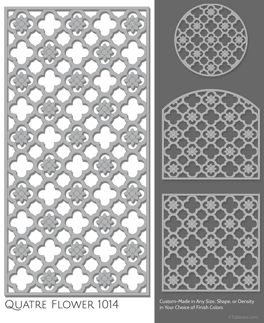 """Tableaux Decorative Grilles Design Pattern """"Quatre Flower"""""""