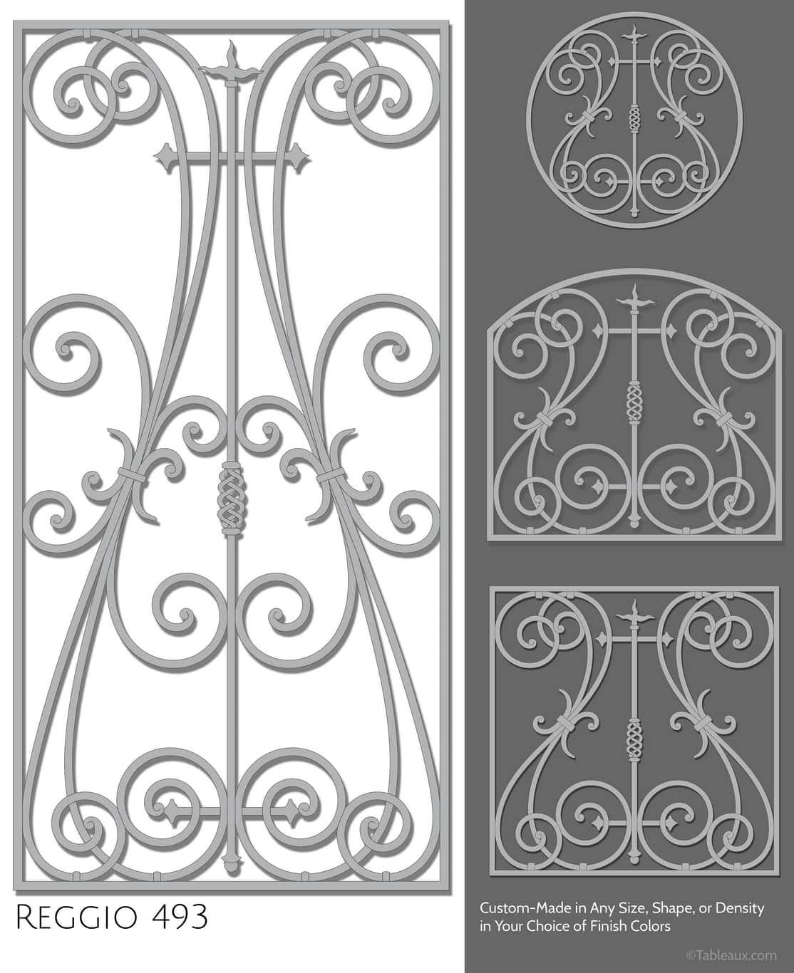 "Tableaux Decorative Grilles Design Pattern ""Reggio"""