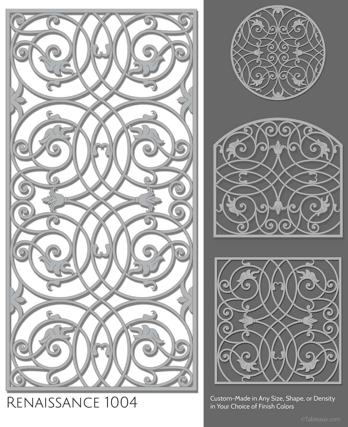 """Tableaux Decorative Grilles Design Pattern """"Renaissance"""""""