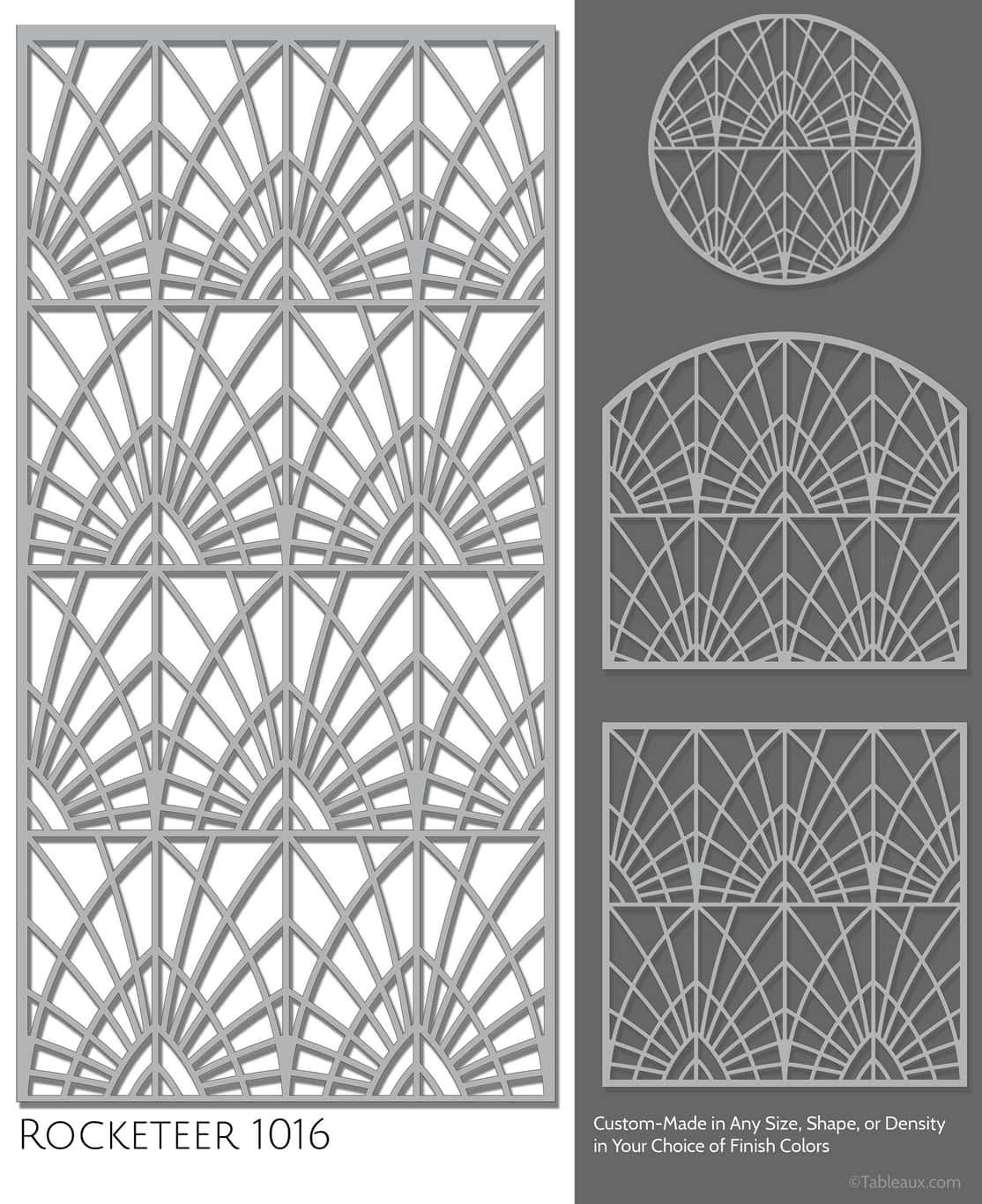 "Tableaux Decorative Grilles Design Pattern ""Rocketeer"""